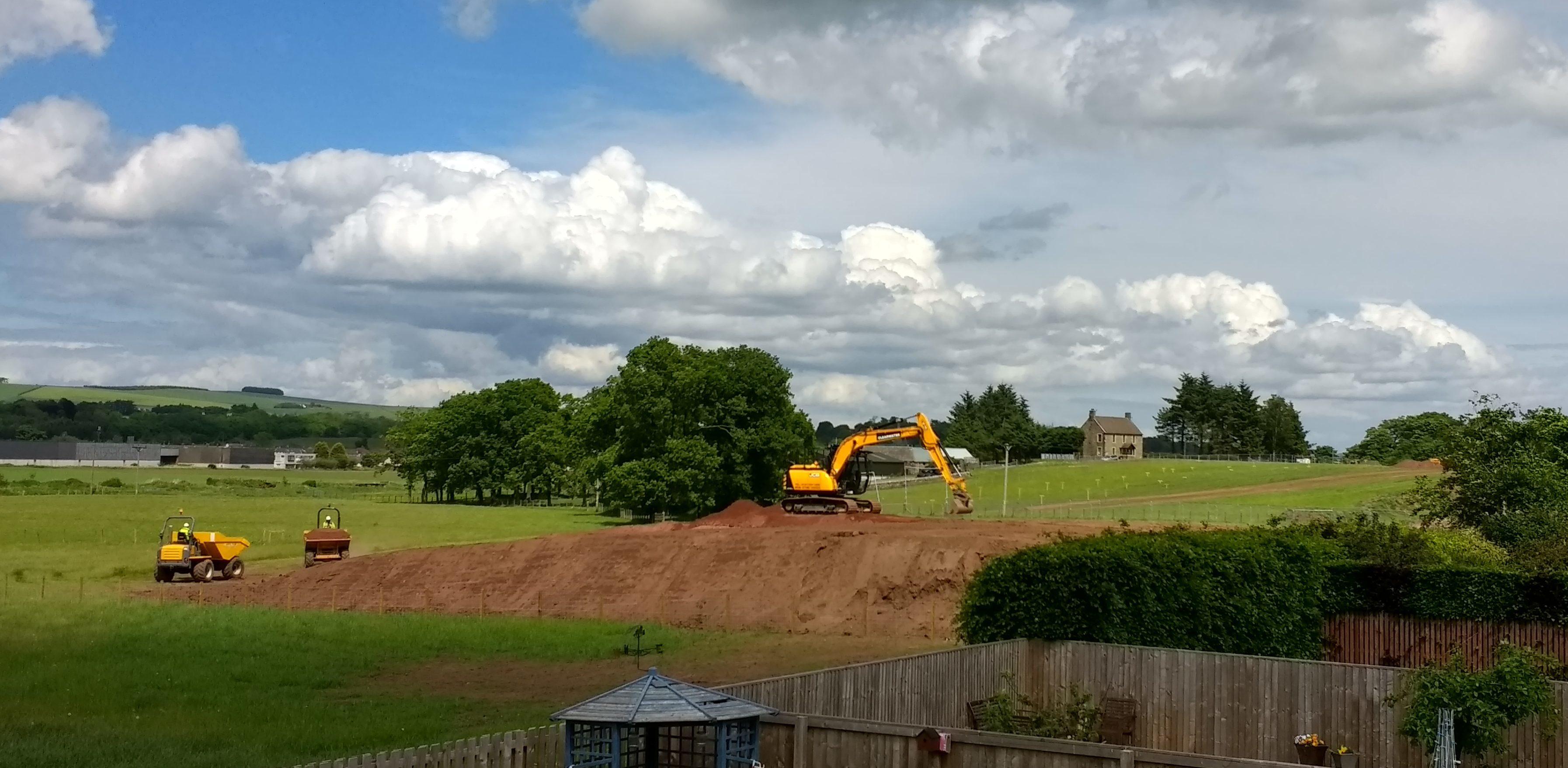 Work taking place at Lathro Farm, Kinross.