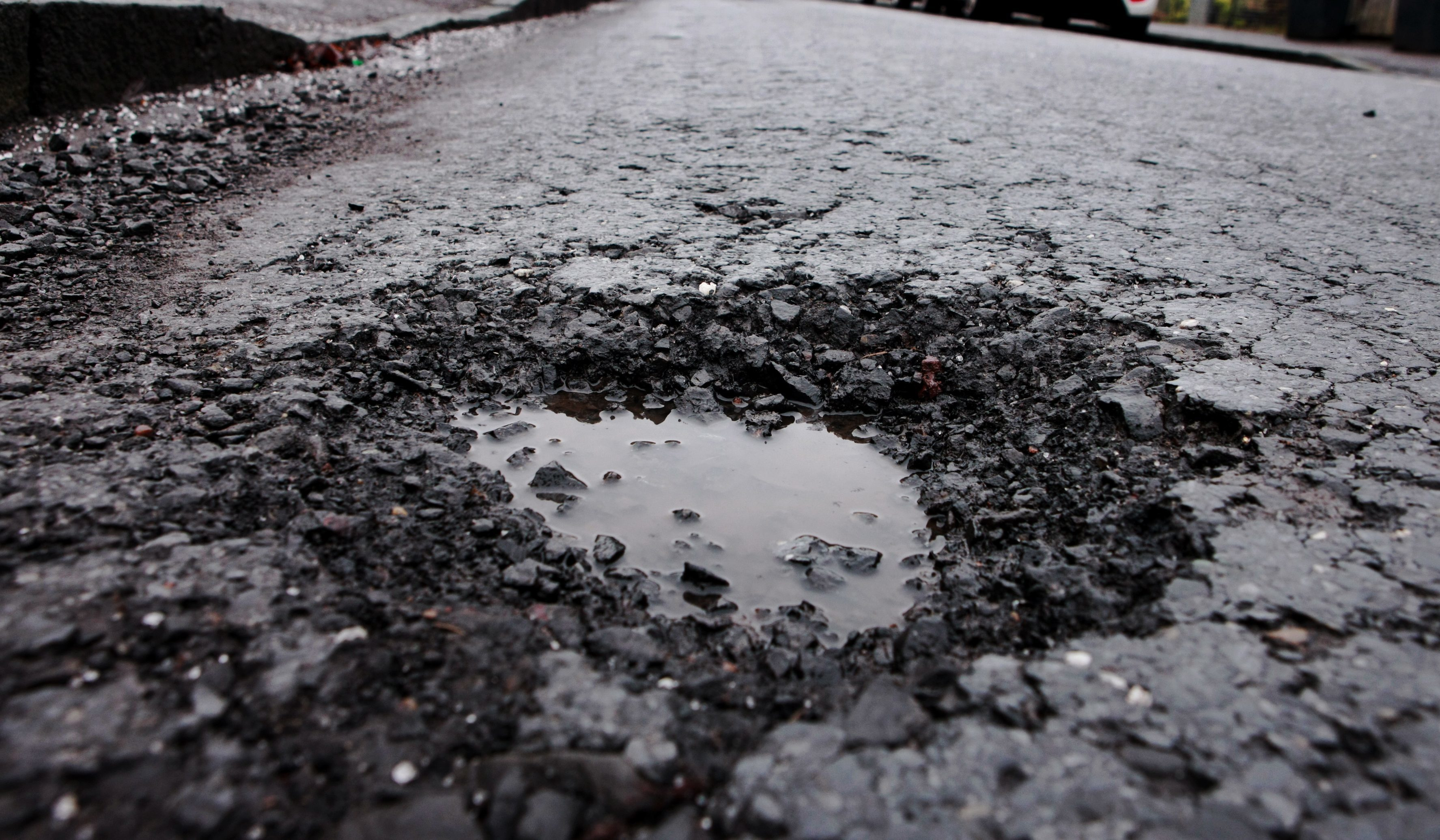 winter weather has aided a huge rise in potholes across Fife
