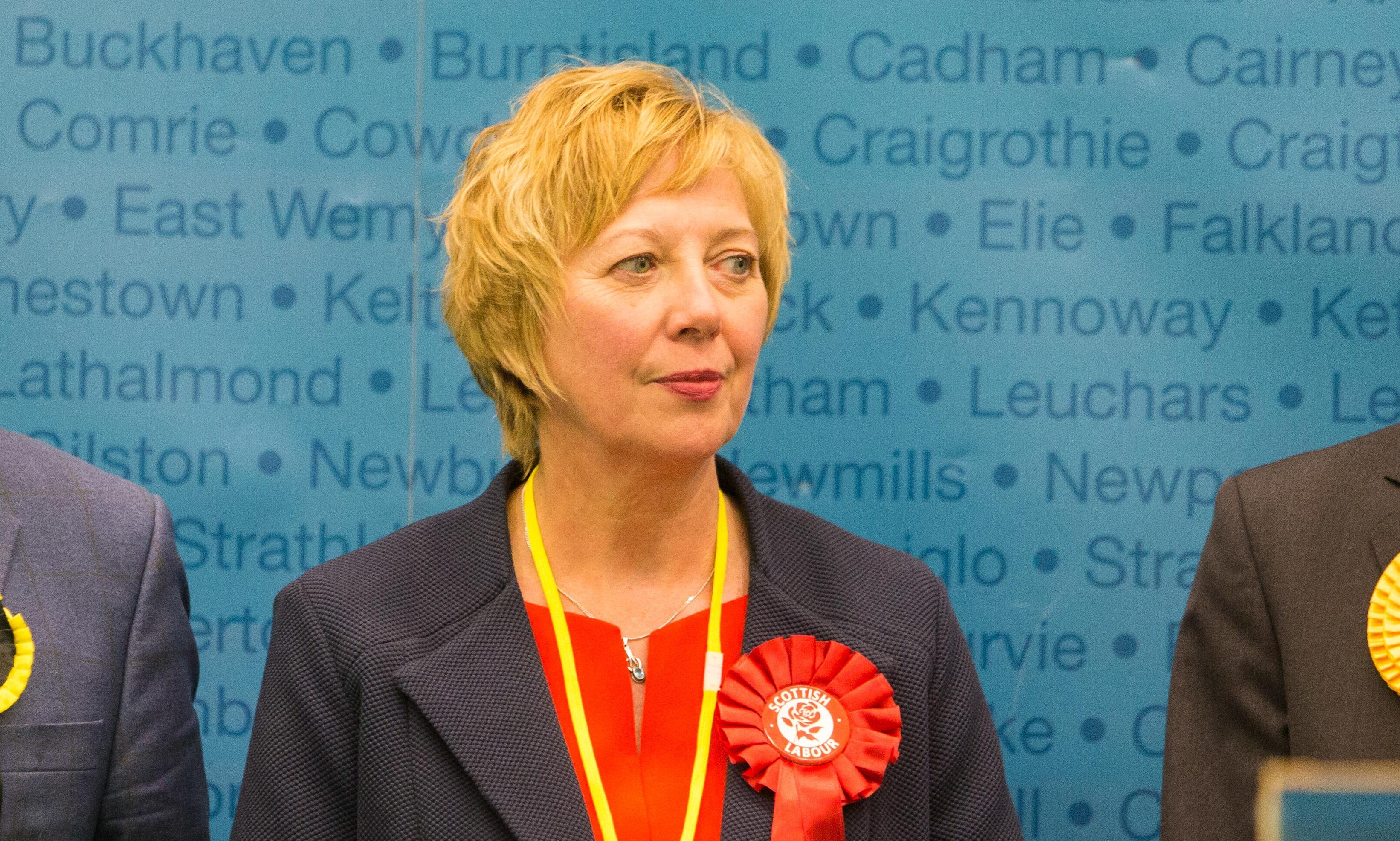 Lesley Laird MP as she won the Kirkcaldy and Cowdenbeath seat for Labour
