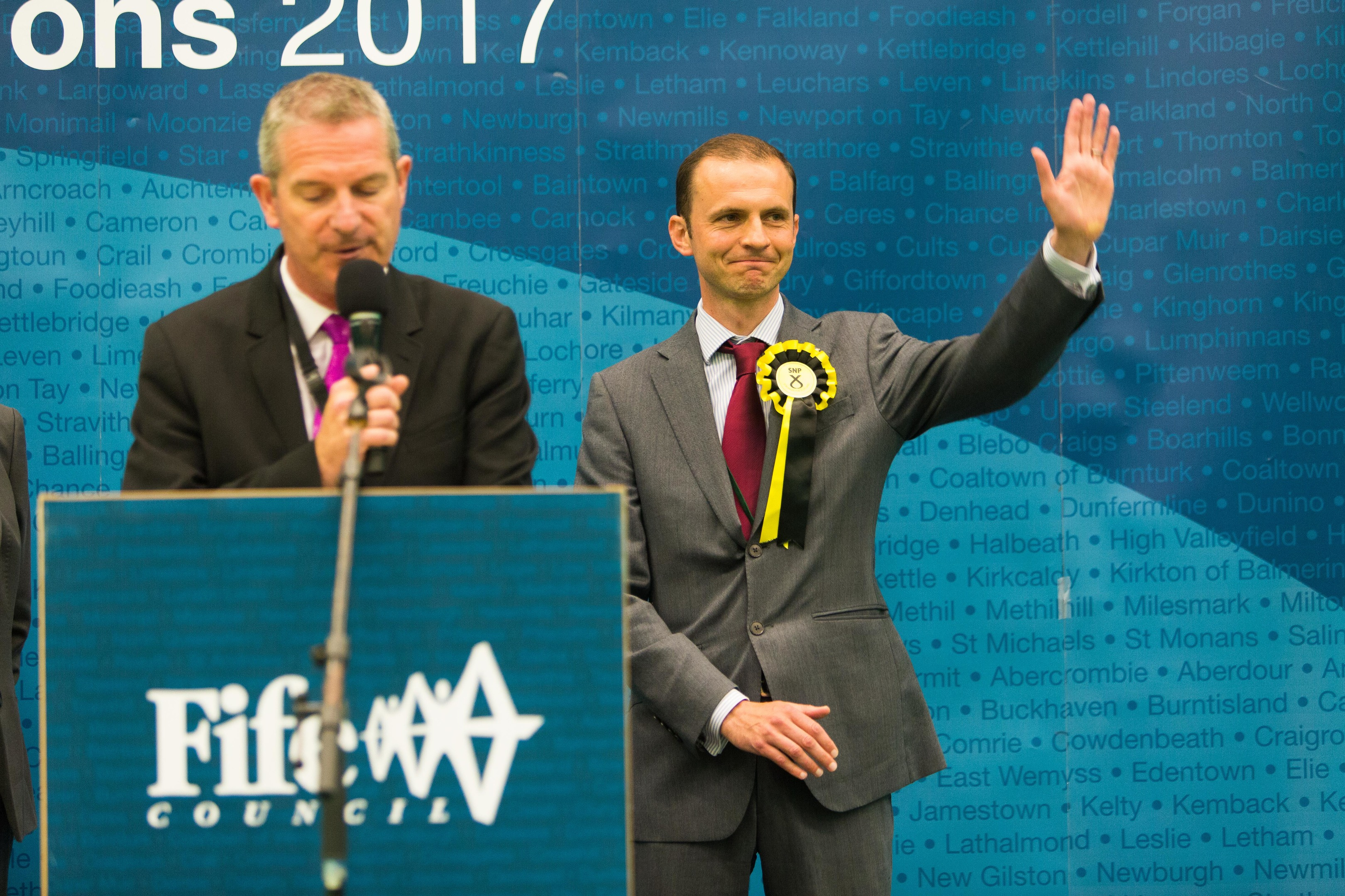 Stephen Gethins probably has a couple of hard-pressed vets to thank for his narrow win.