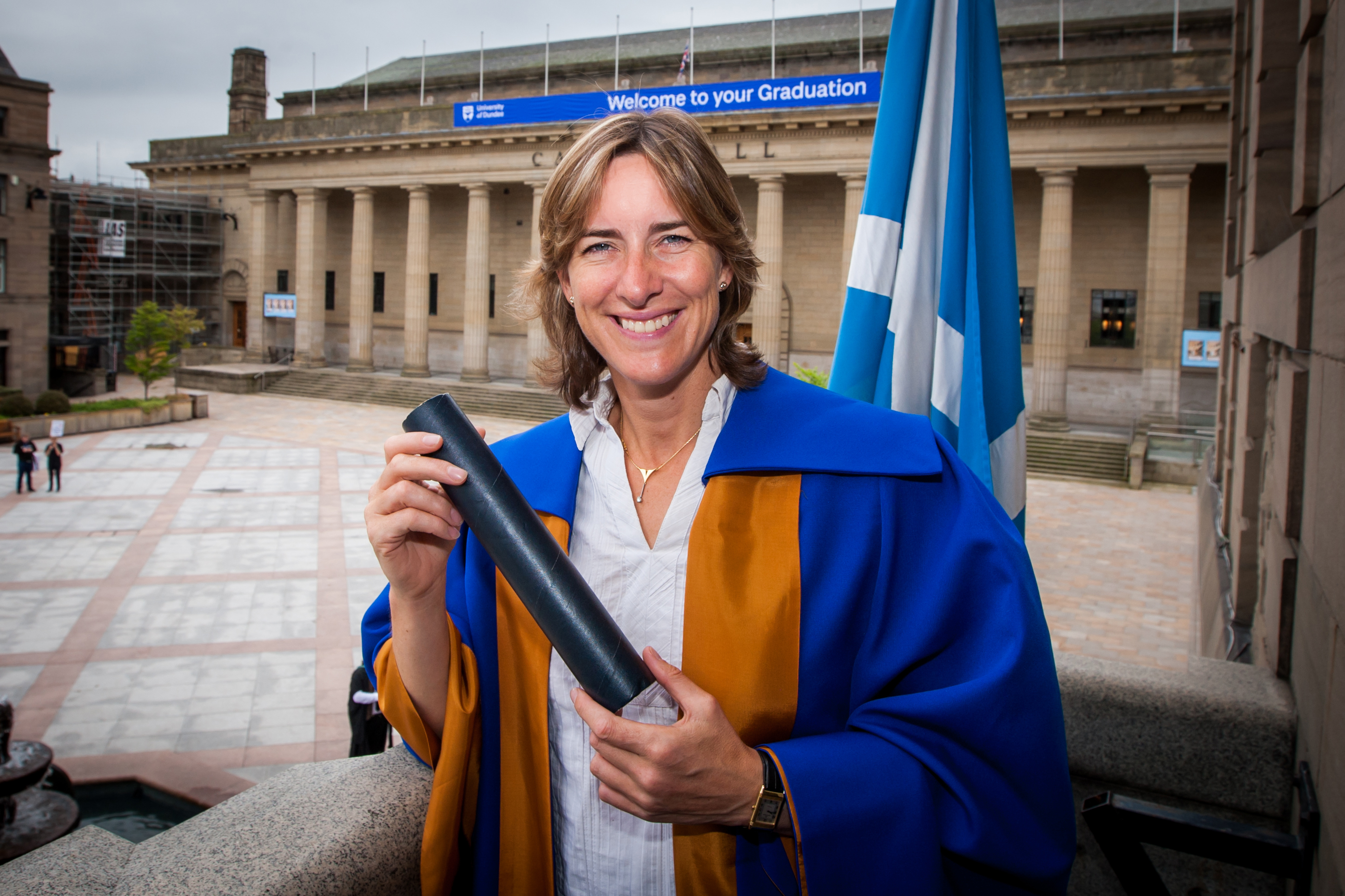 Katherine Grainger received an honorary Doctor of Law for her services to sport and charity.