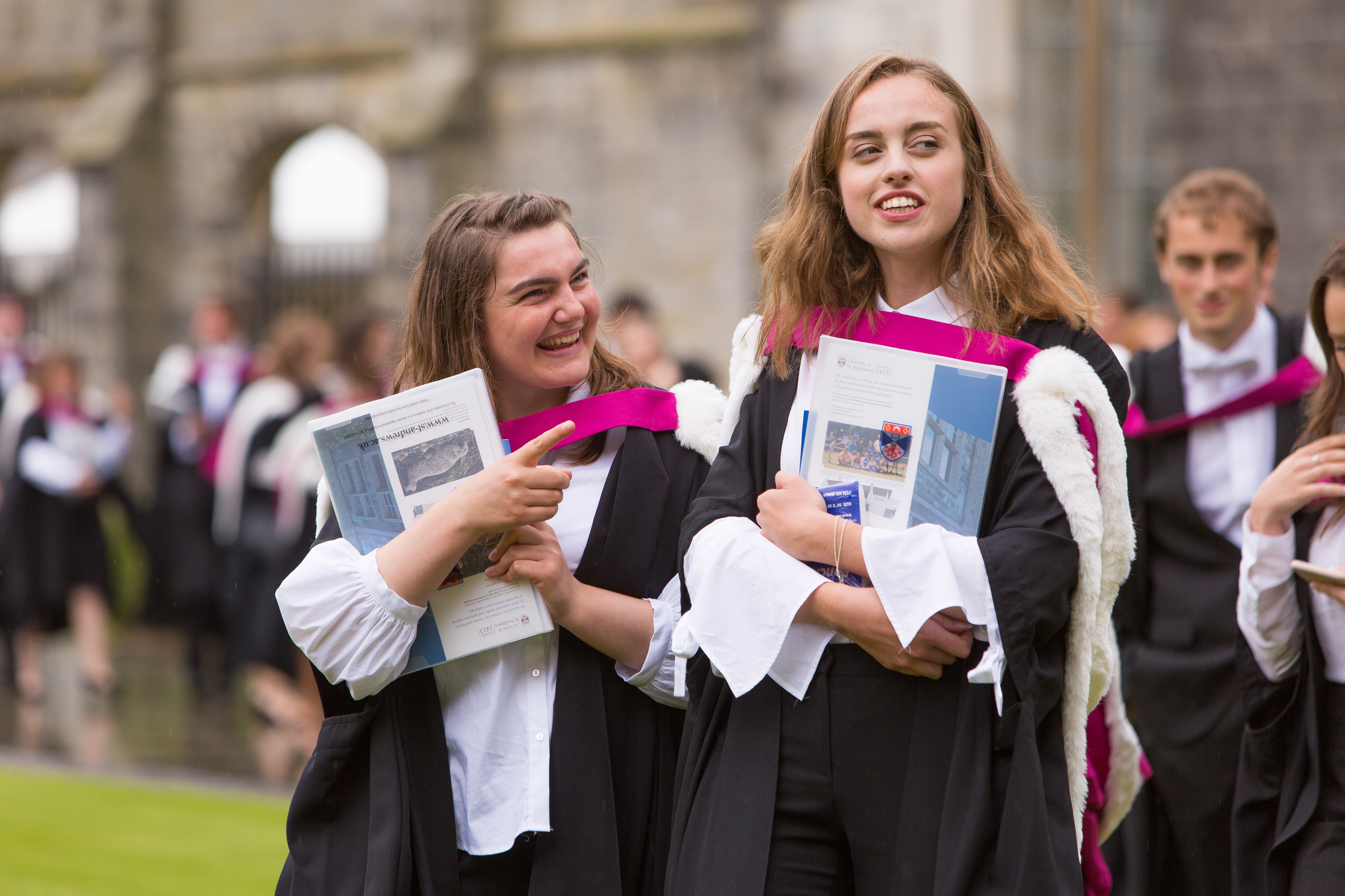 Graduates of the University of St Andrews were all smiles as they were handed their degree certificates.