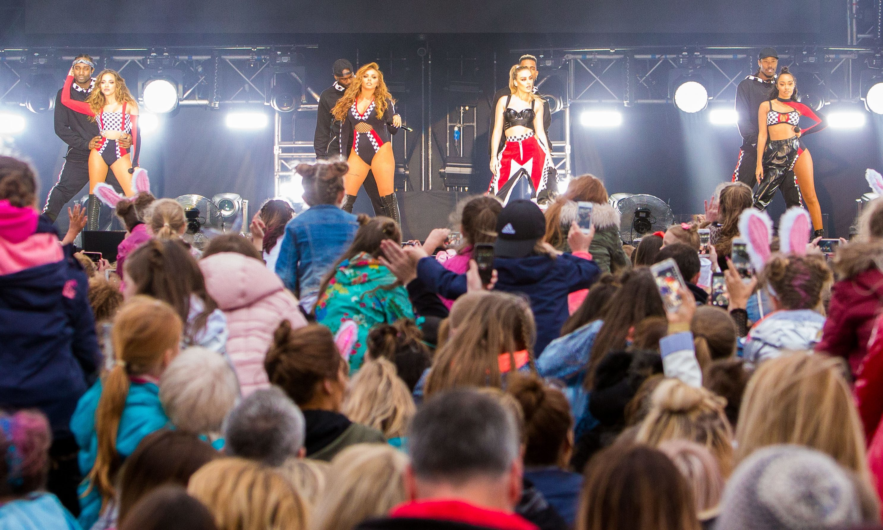 Little Mix attracted the largest crowd to the Slessor Garden's summer season