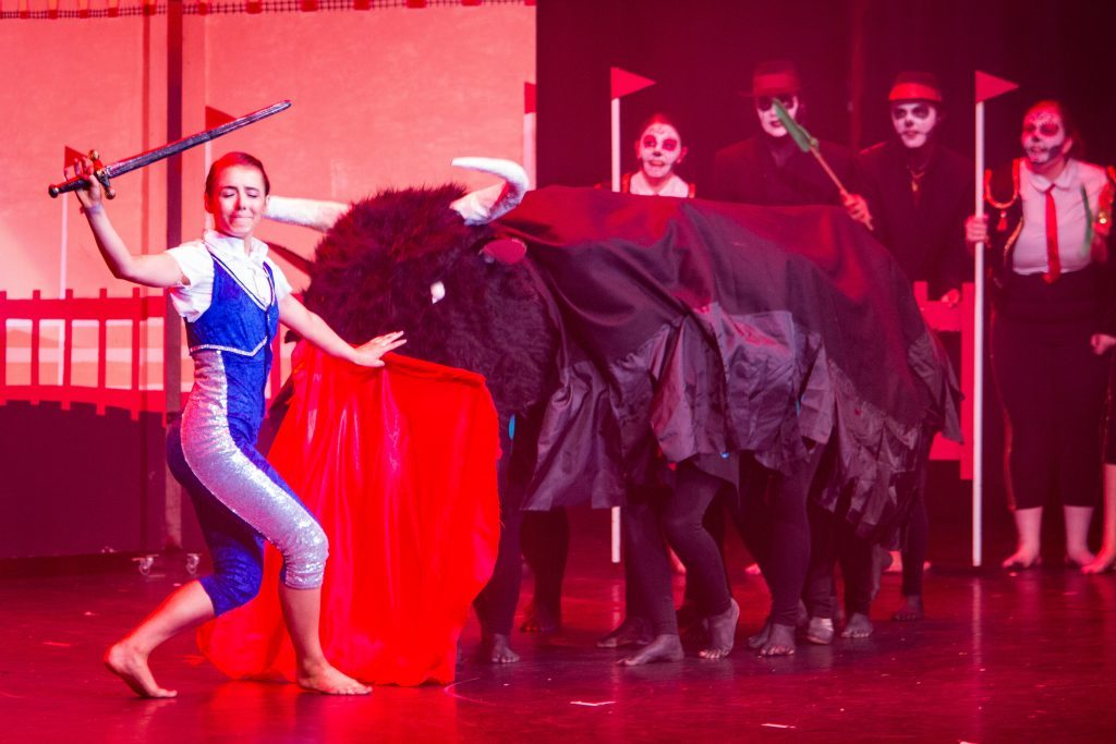 """Day of the Dead"" is performed on stage as part of the Rock Challenge."