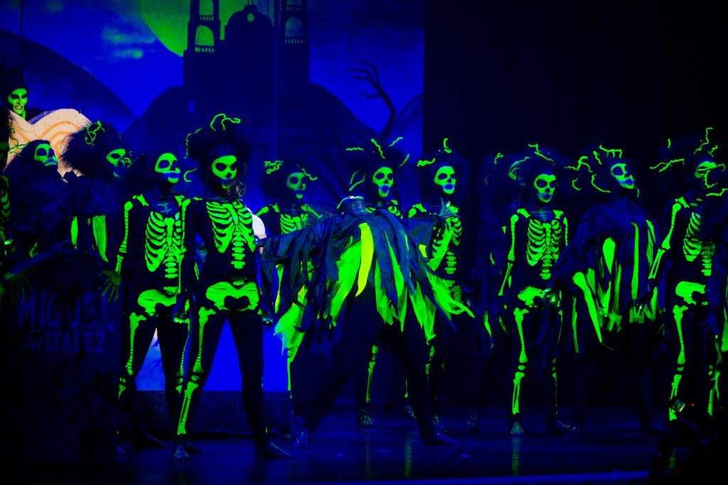 "Dingwall Academy performs ""Day of the Dead""."