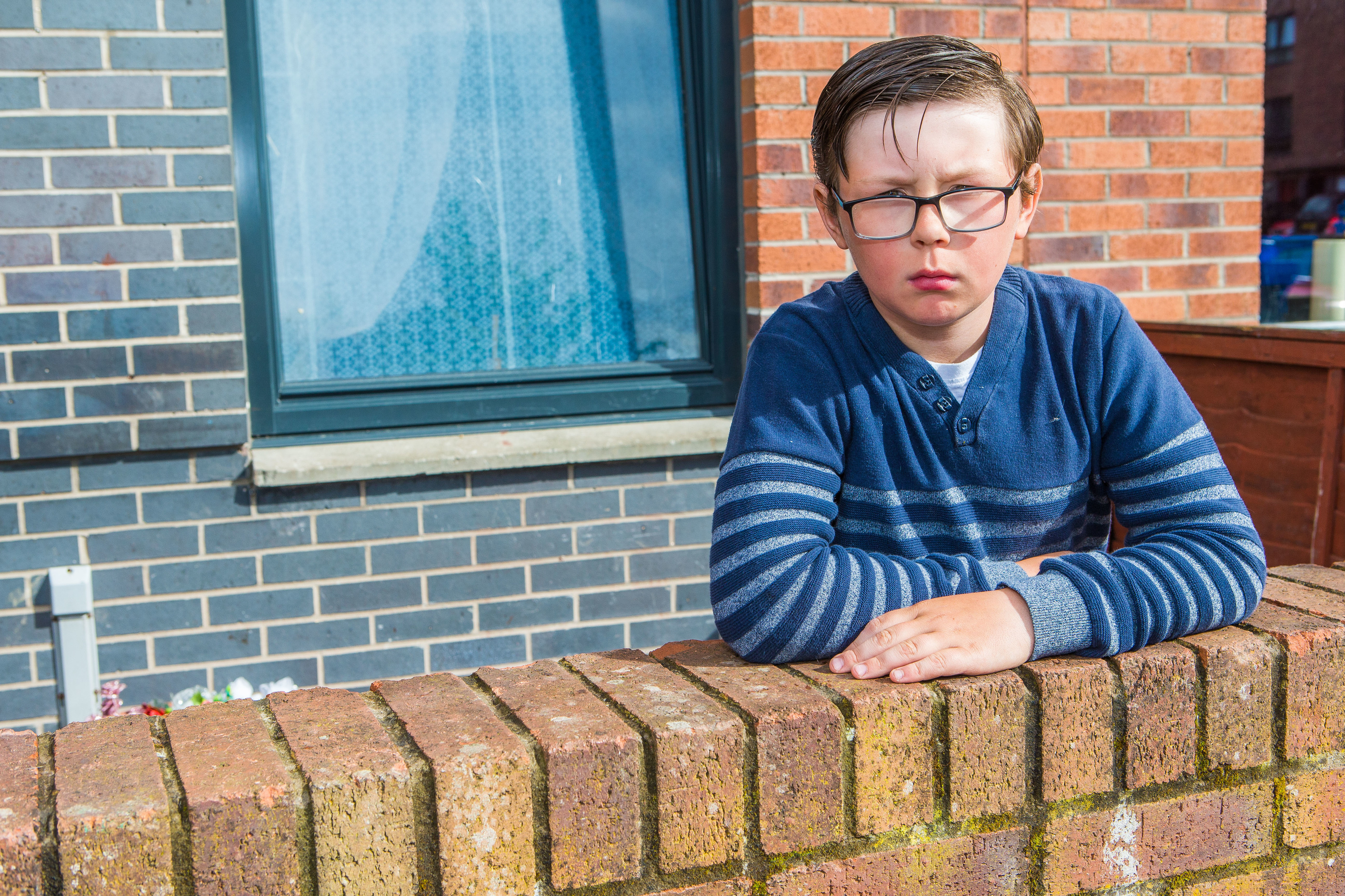 Tom Cox (11) from Dundee now without his bike which was stolen from right beneath his mums bedroom window even when mum Michelle disturbed the thief.