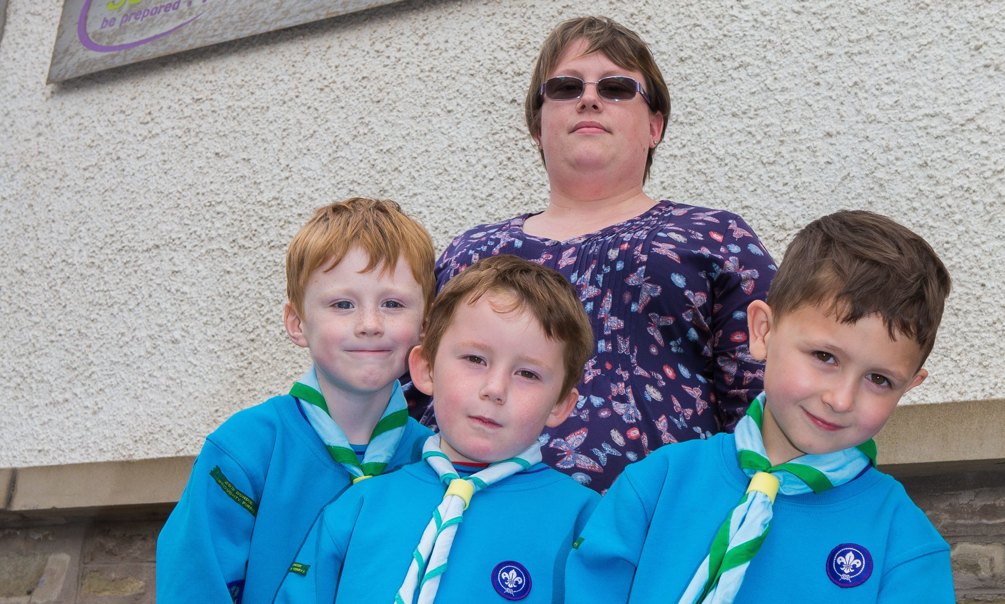 Gemma Reid with some of the young members of the 25th group.
