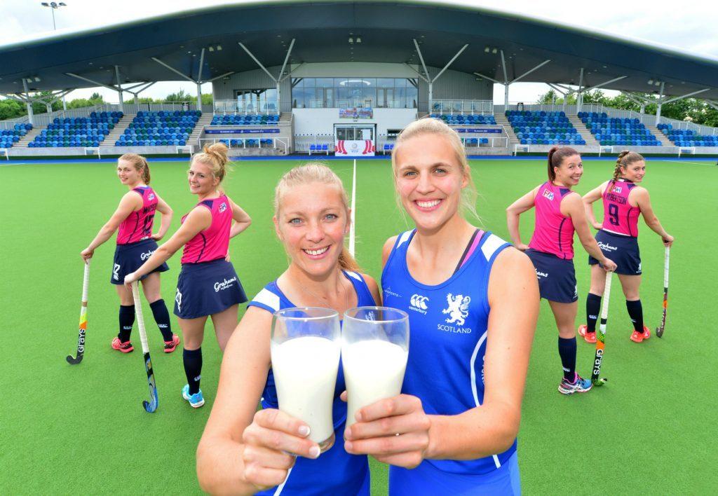 Team Captains Kareena Cuthburt,29,Greenock and Becky Merchant, 28, Edinburgh