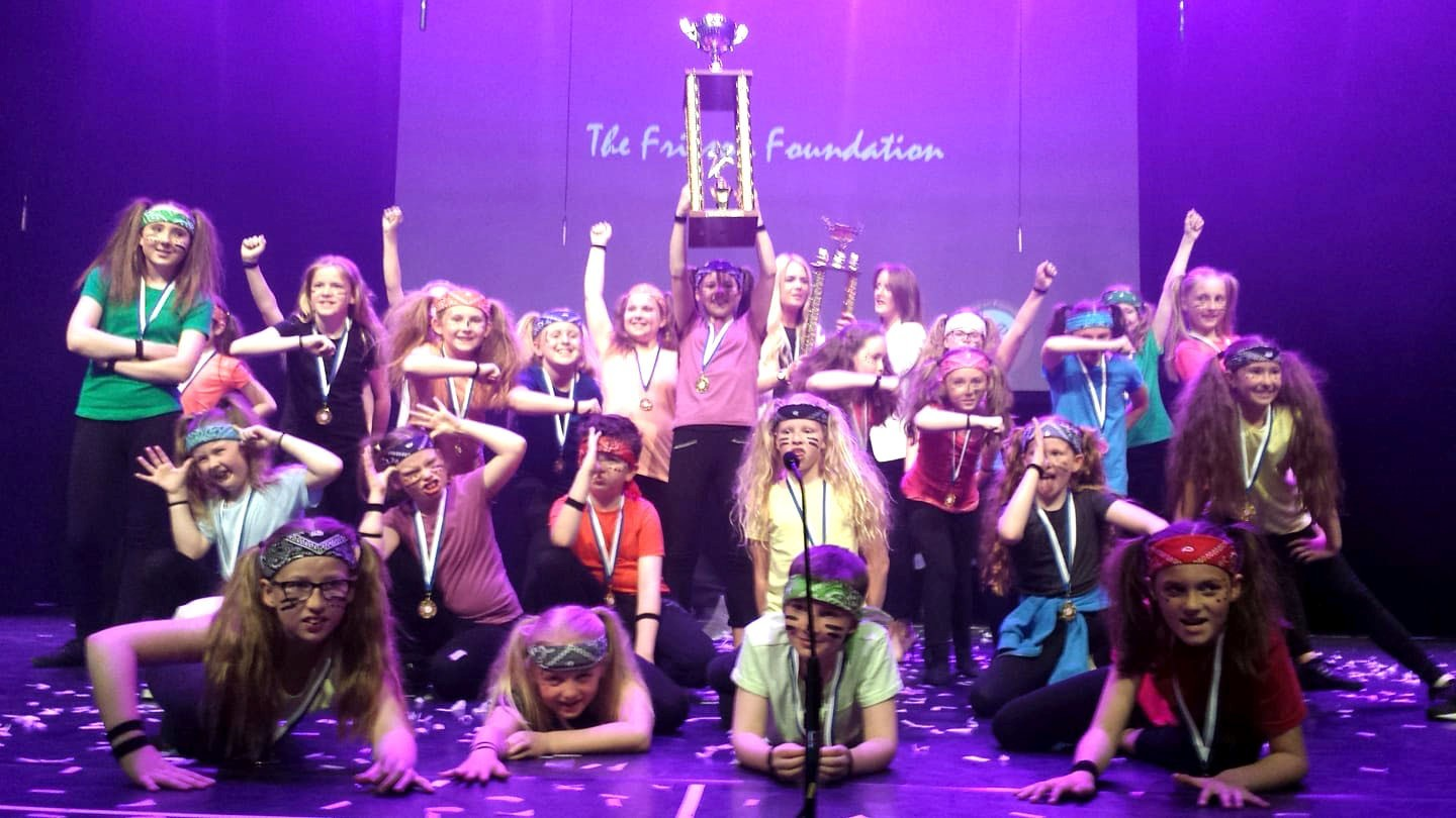 Tulloch Primary youngsters celebrate victory at Perth Concert Hall.