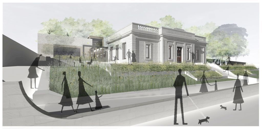 How the front of the library will look from Queen Street
