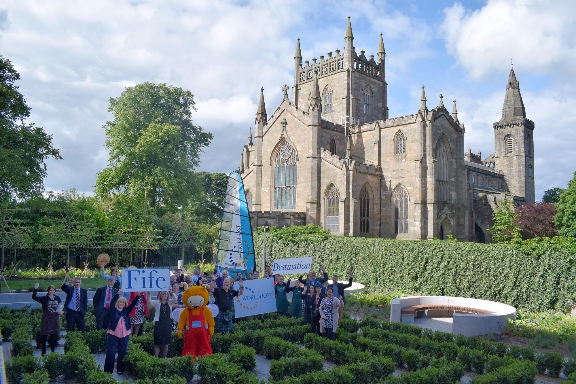 Fife Cultural Trust staff help celebrate the achievement