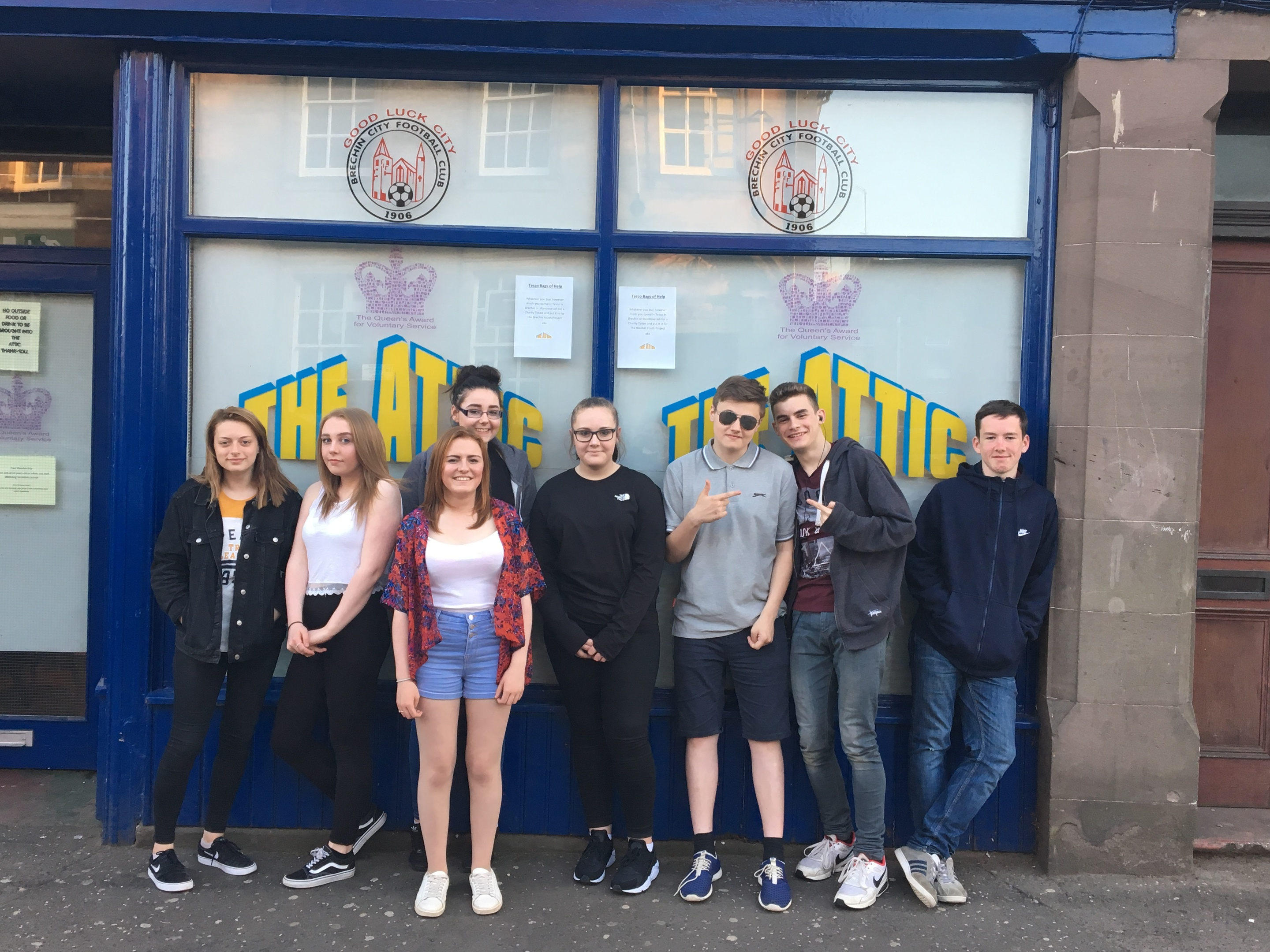 Youngsters from the Attic in Brechin are among those who will benefit.