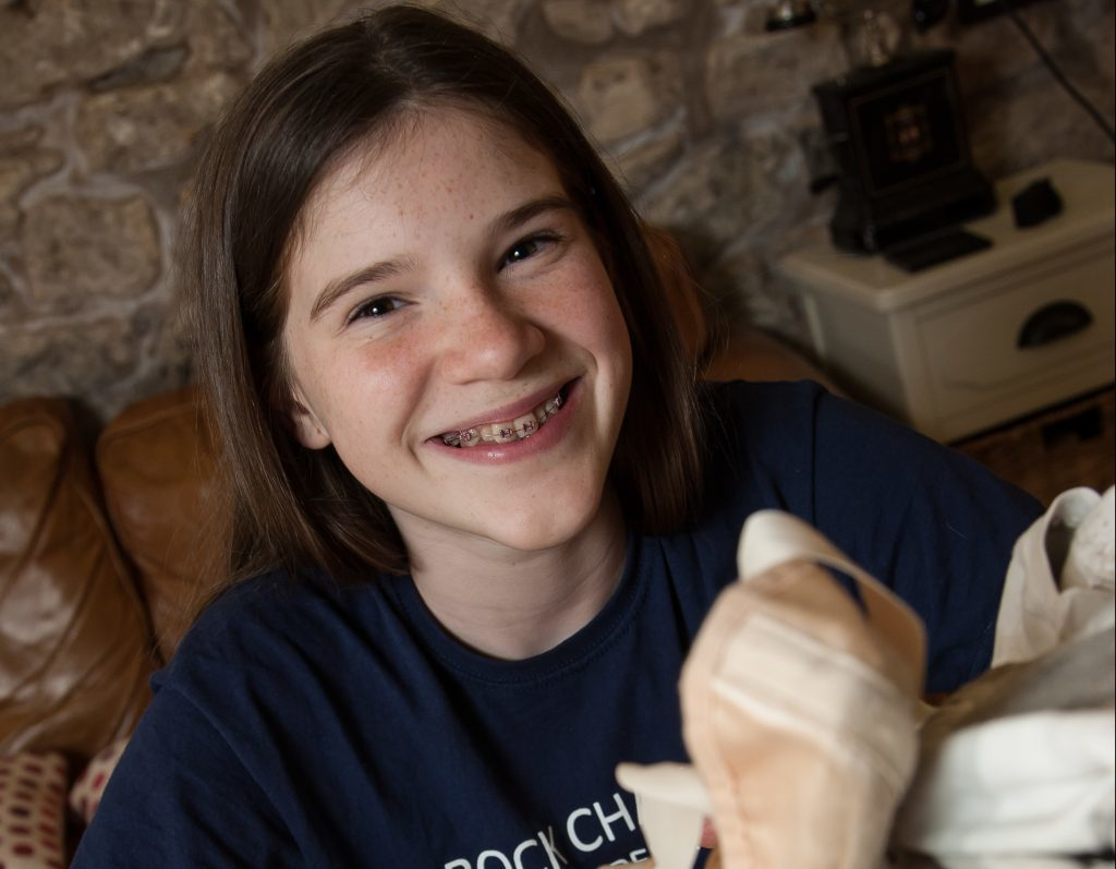 Cara Bell, 13, who is following in her ballet dancer-brother Harris Bell's footsteps.