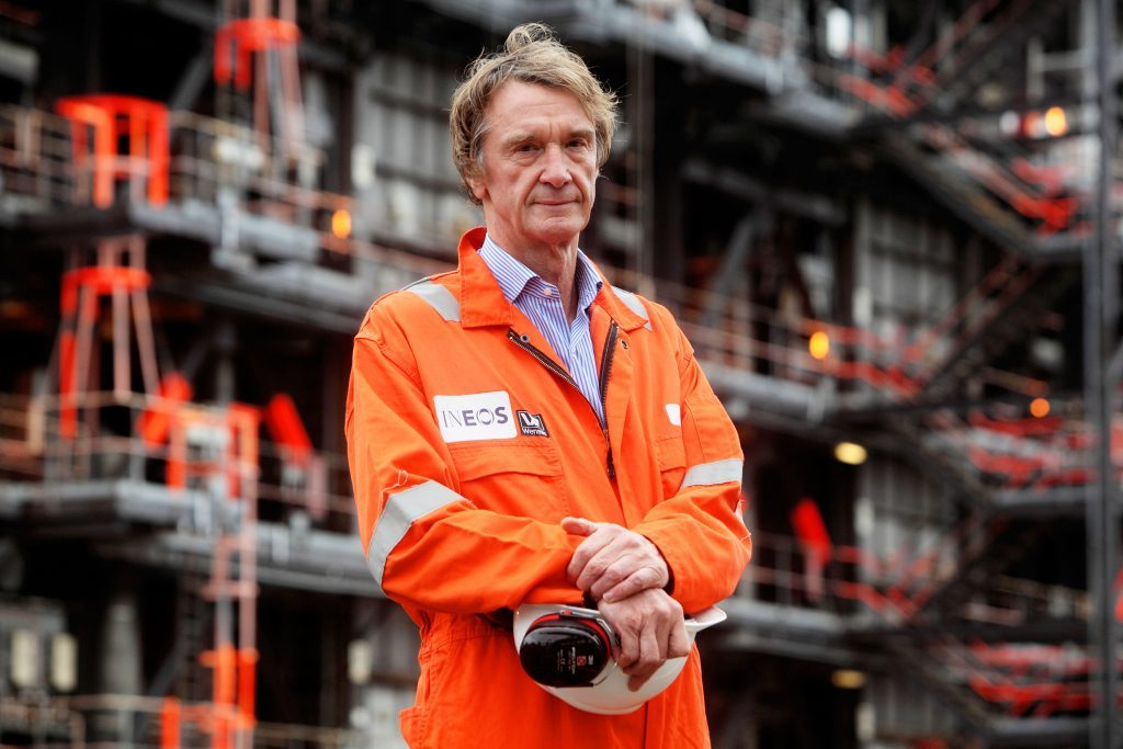 INEOS founder and chairman Jim Ratcliffe at Grangemouth.