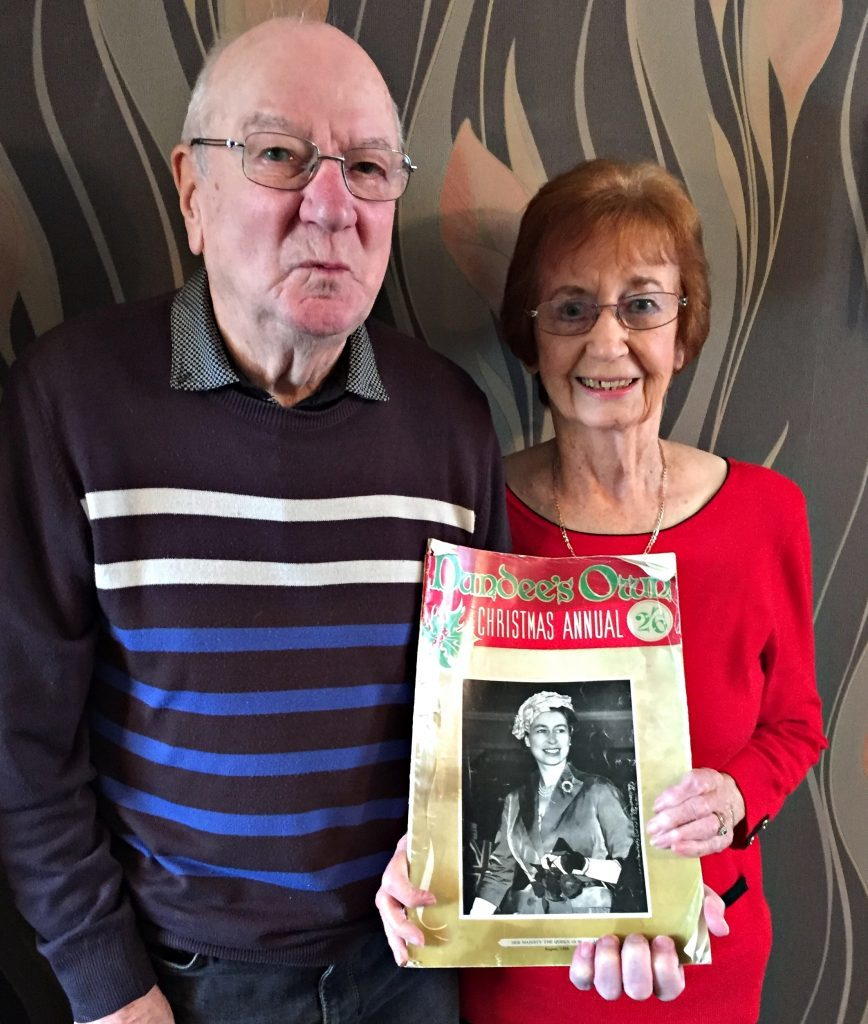 "Jim and Rhoda's story was featured in thw 1958 edition of ""Dundee's Own Christmas Annual""."
