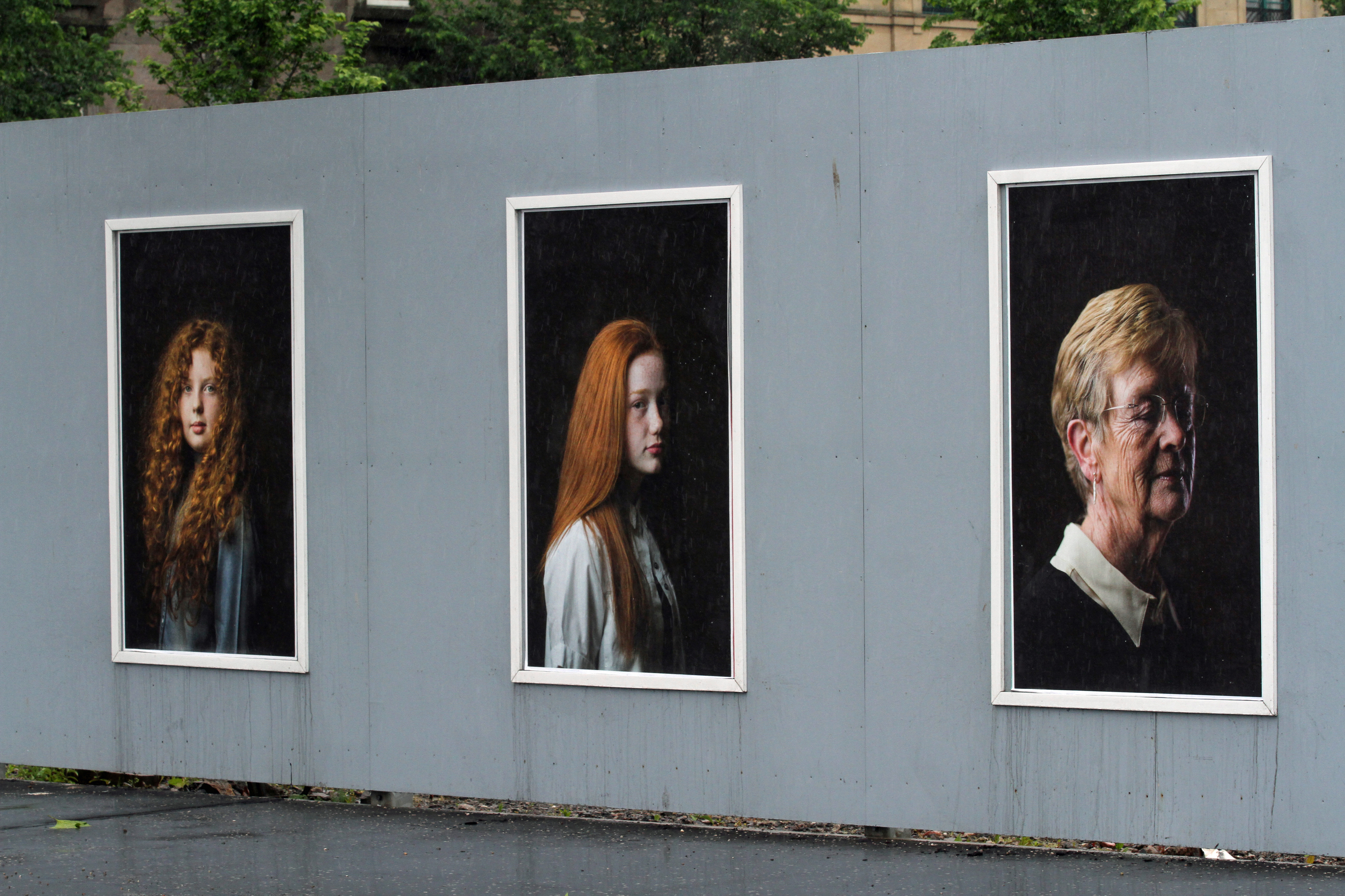 The exhibition features red-haired Dundonians from a variety of backgrounds and ages