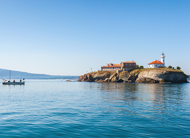 Saint Anastasia Island in Burgas bay, Black Sea
