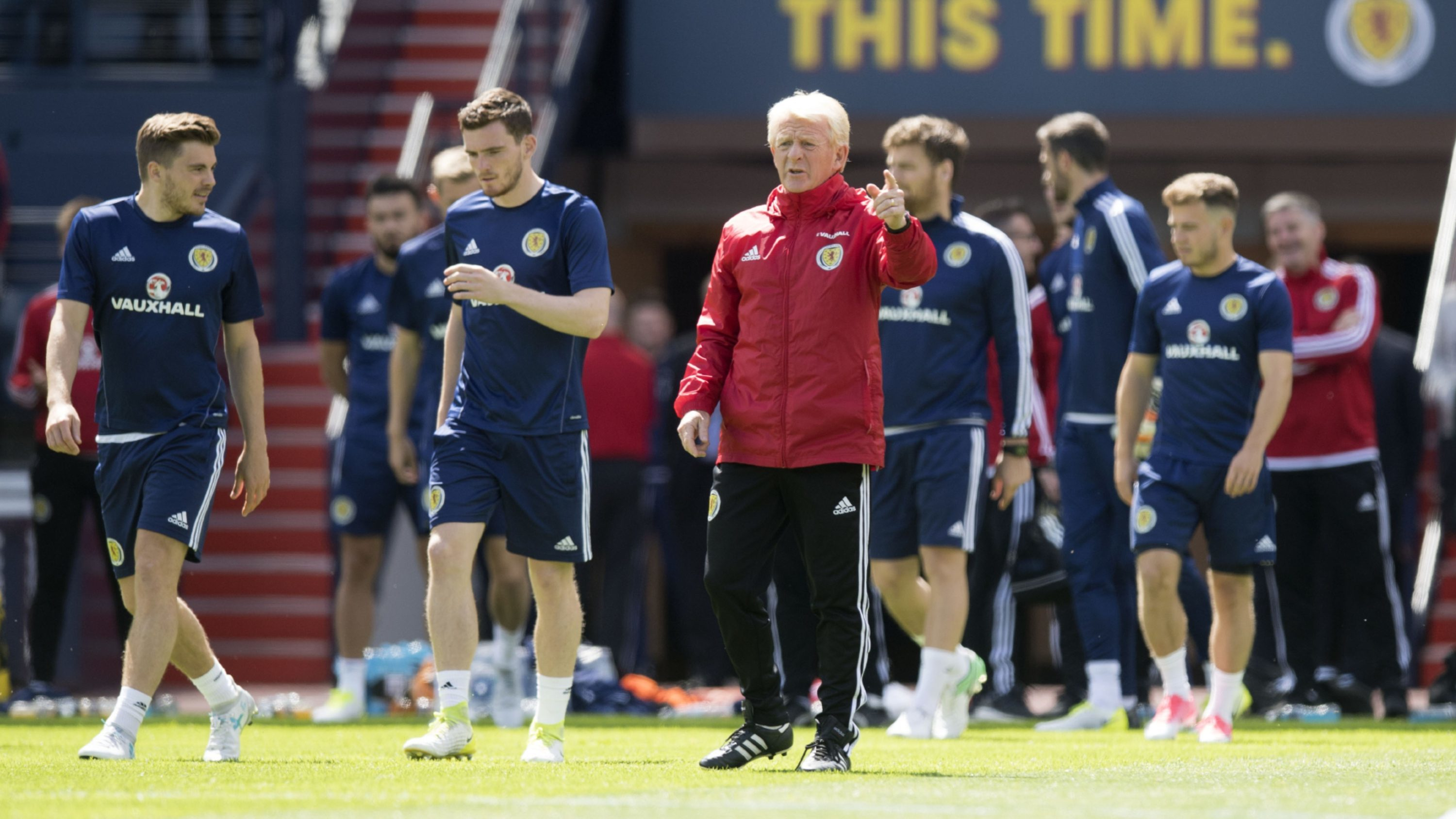 Manager Gordon Strachan and the Scotland players.