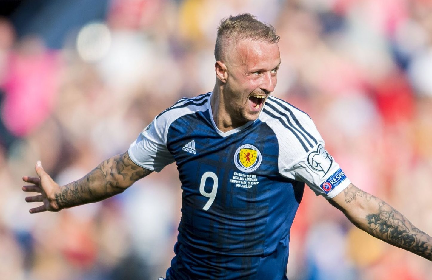 Leigh Griffiths after scoring his second freekick against England.