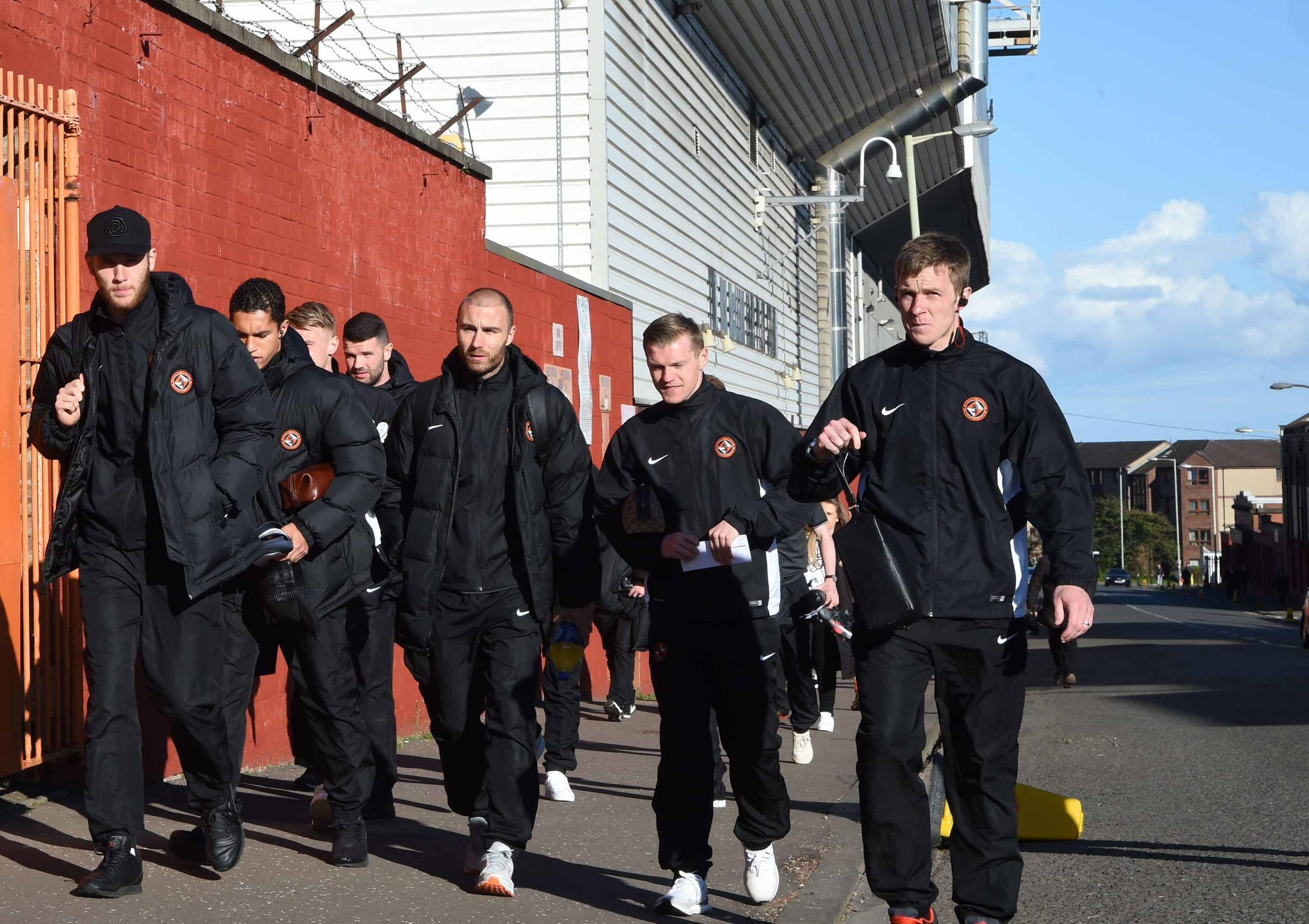 These Dundee United players were the last ones to make the short walk from Tannadice to Dens.