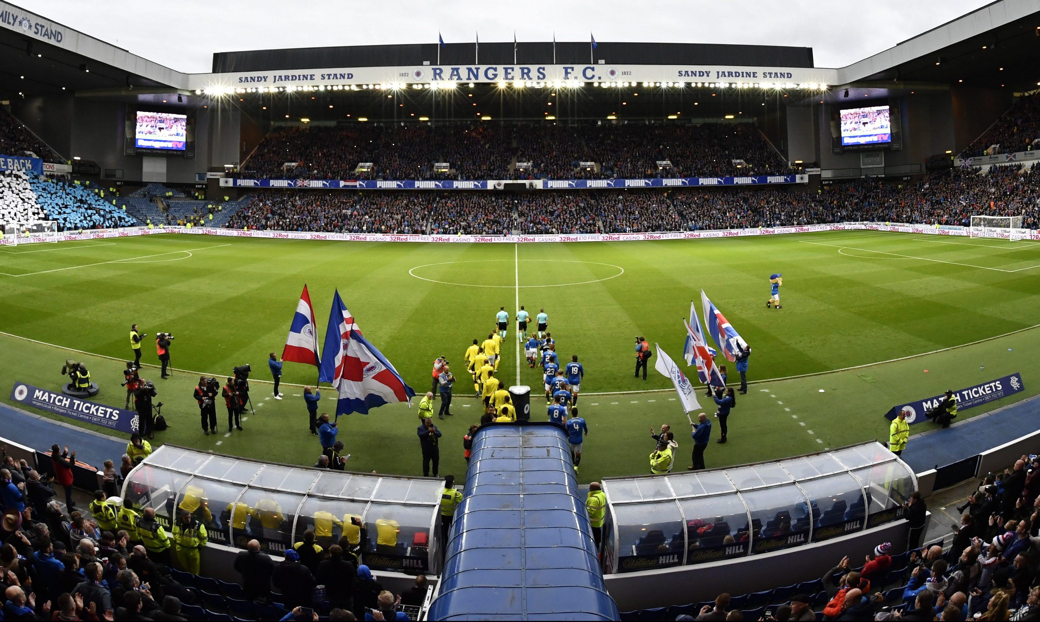 Ibrox stadium.