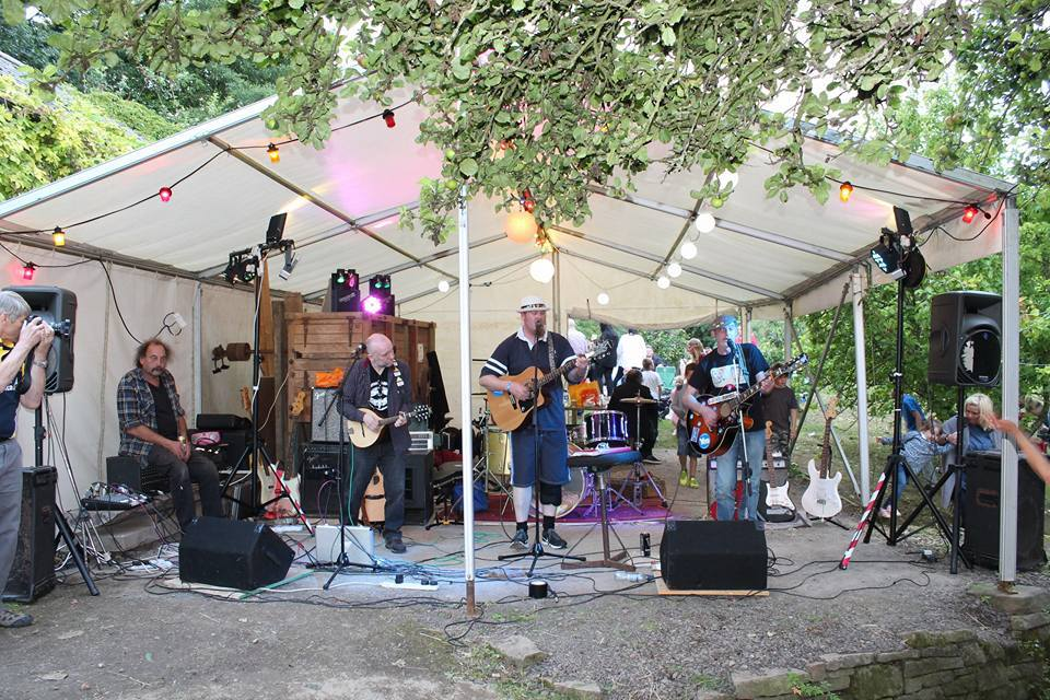 Musicians at a previous Barry Mill music event.