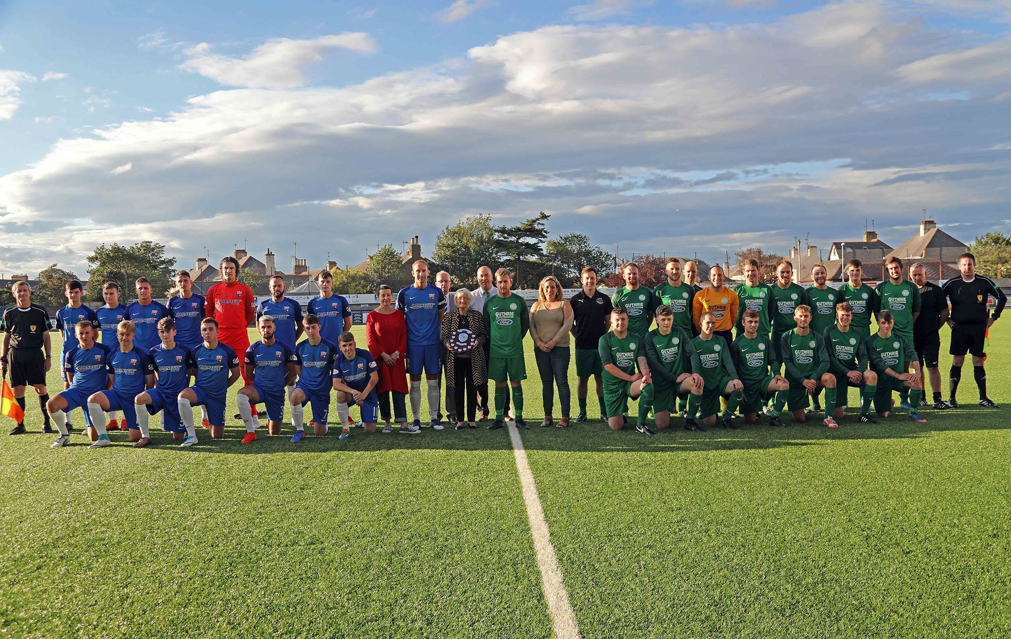 The teams before the match