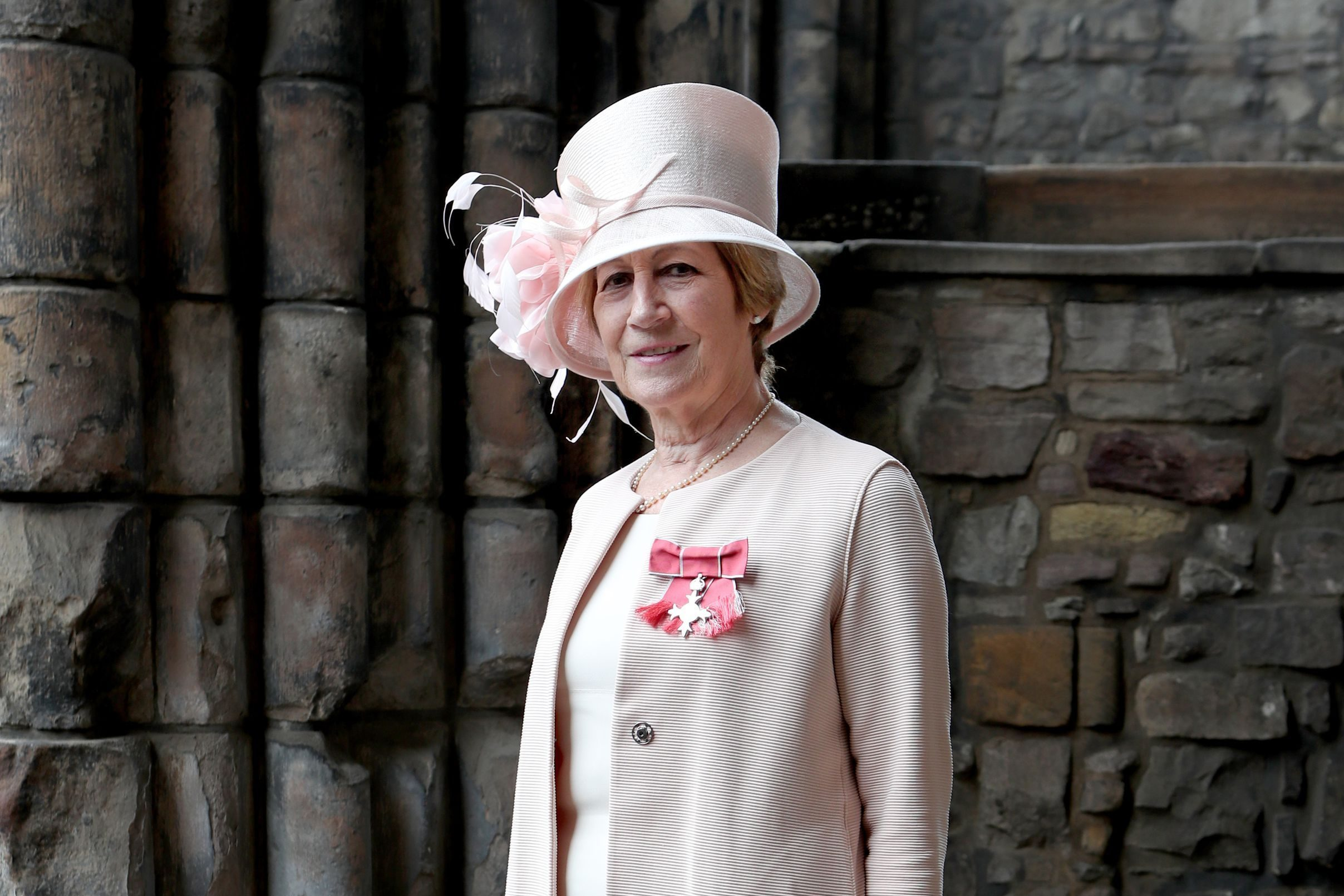 Lady Fraser of Carmyllie after receiving her OBE.