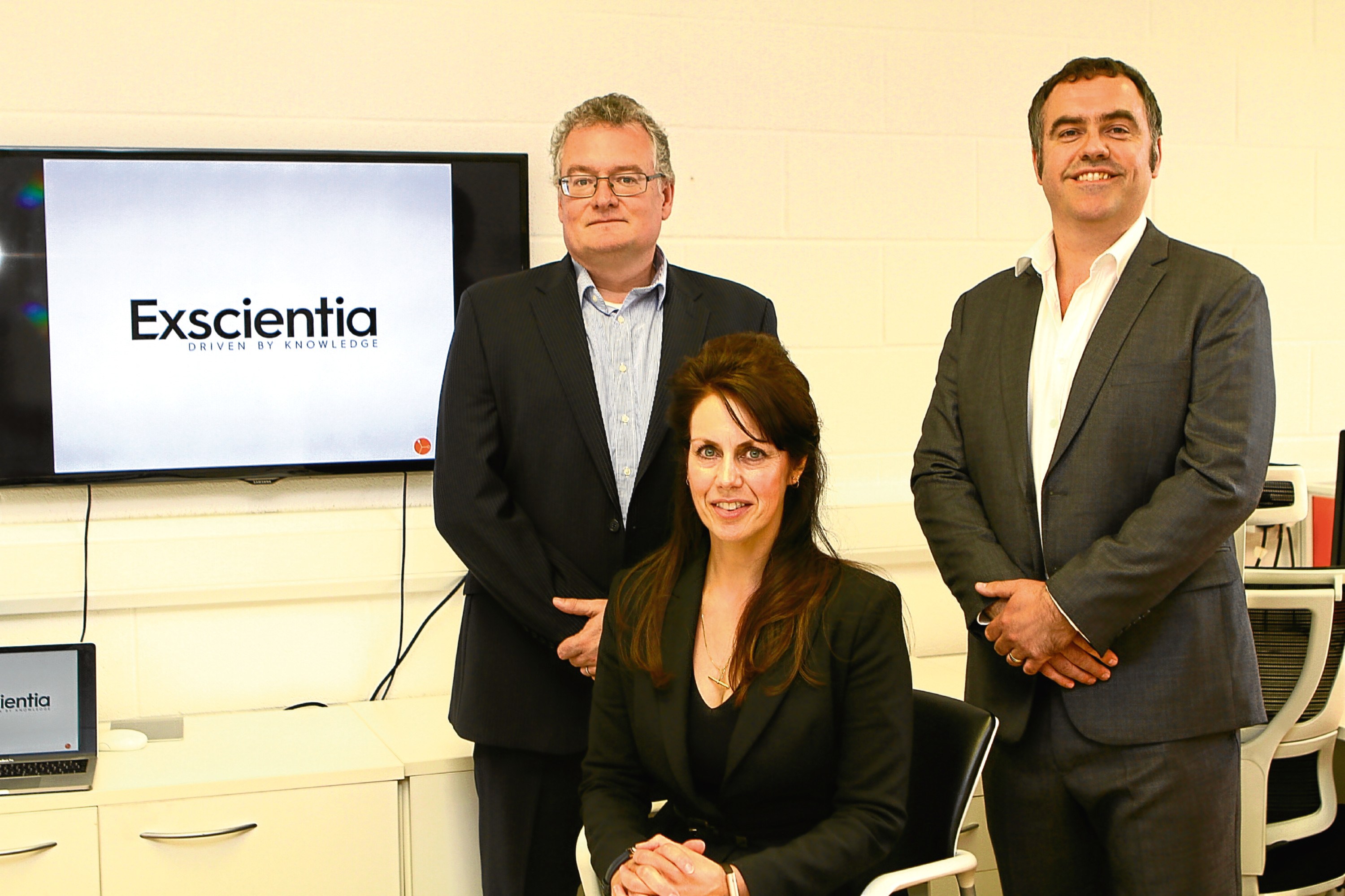 Members of the Exscientia team at their offices at Dundee Technopole