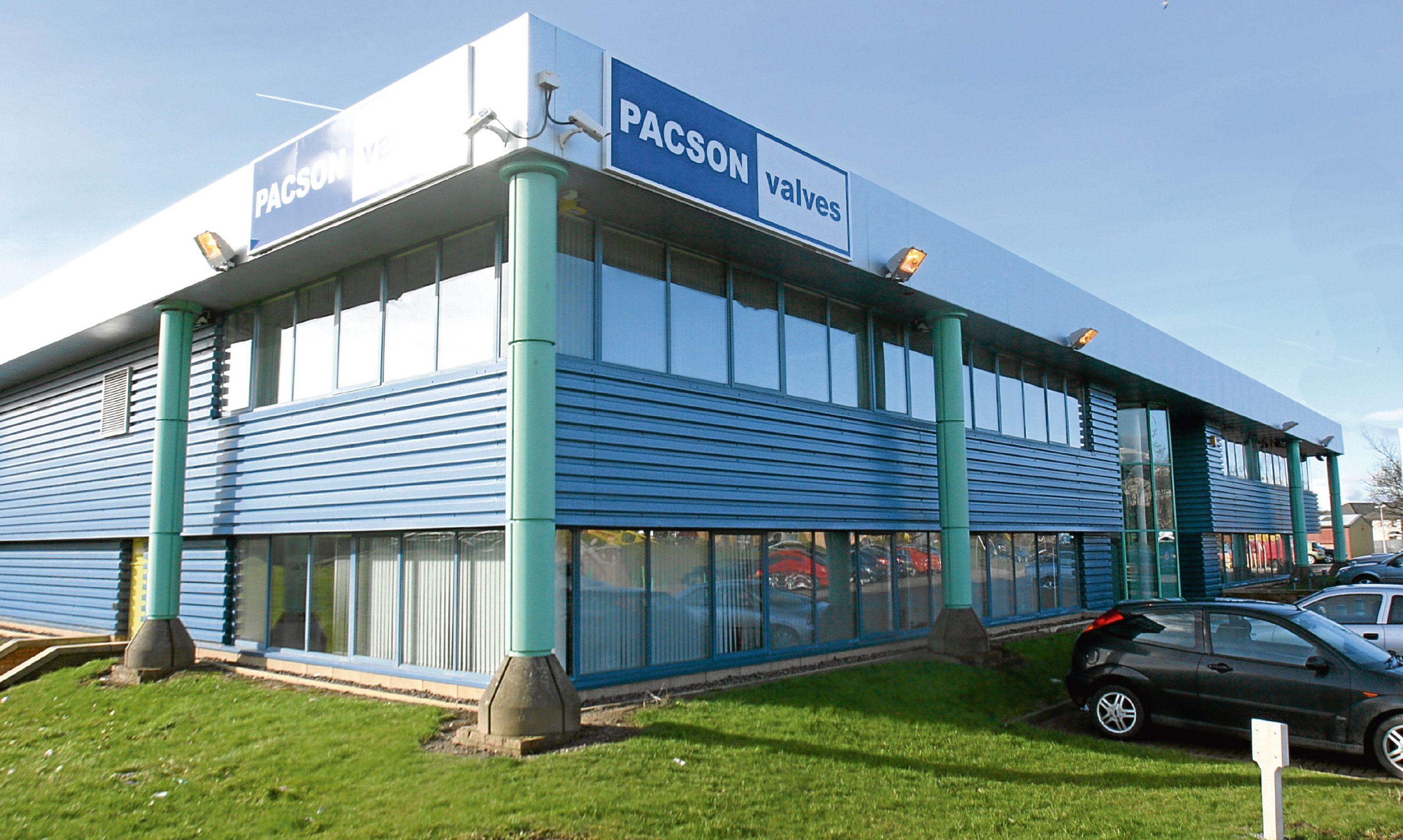 Pacson's premises at Claverhouse Industrial Park, Dundee.