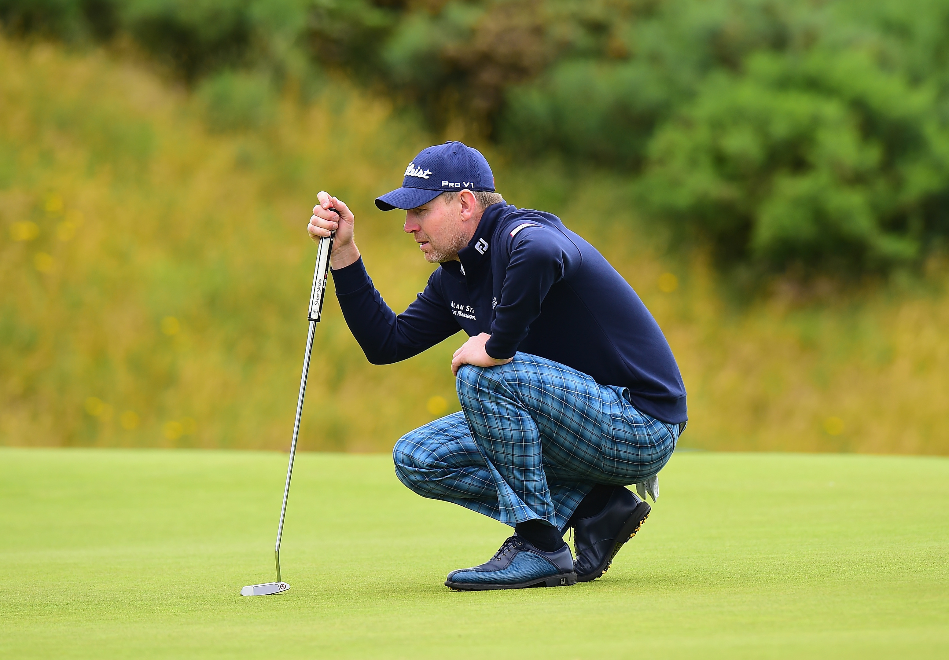 Stephen Gallacher is the best placed Scot in the AAM Scottish Open.
