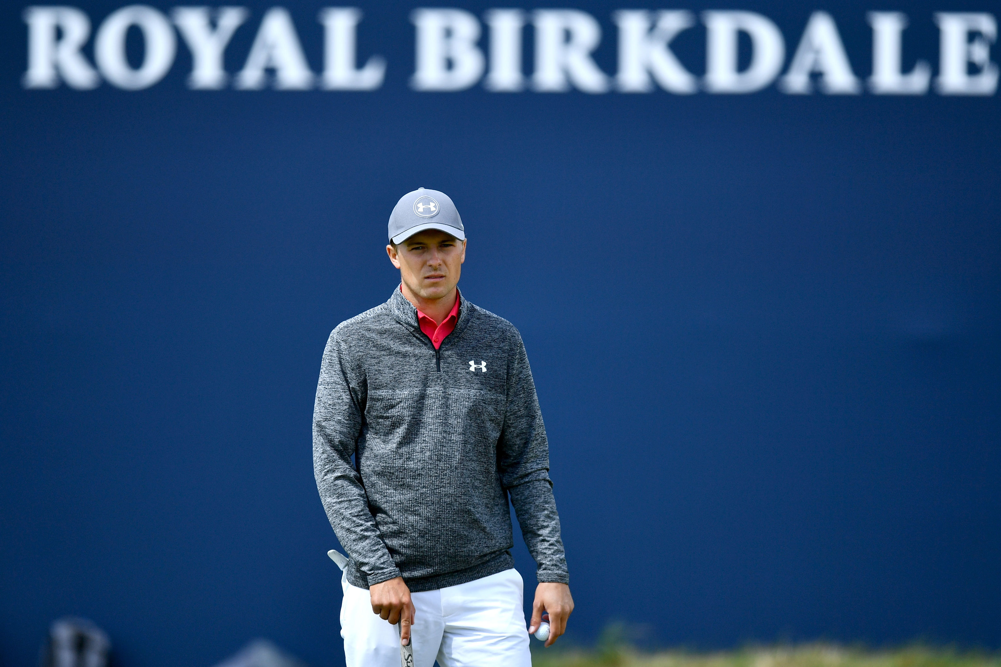 Jordan Spieth shot 65 to be co-leader of the Open at Royal Birkdale.