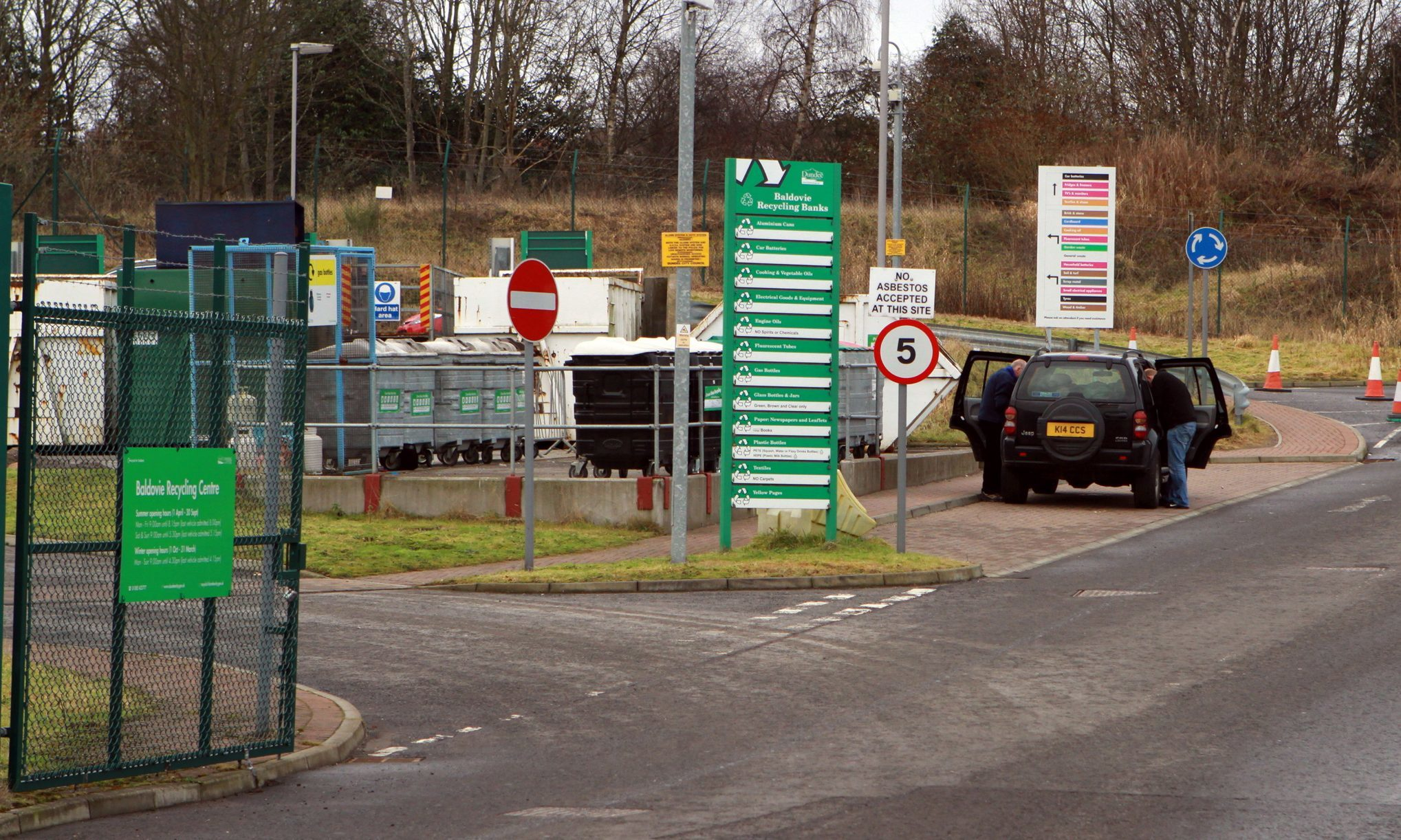Baldovie recycling centre.