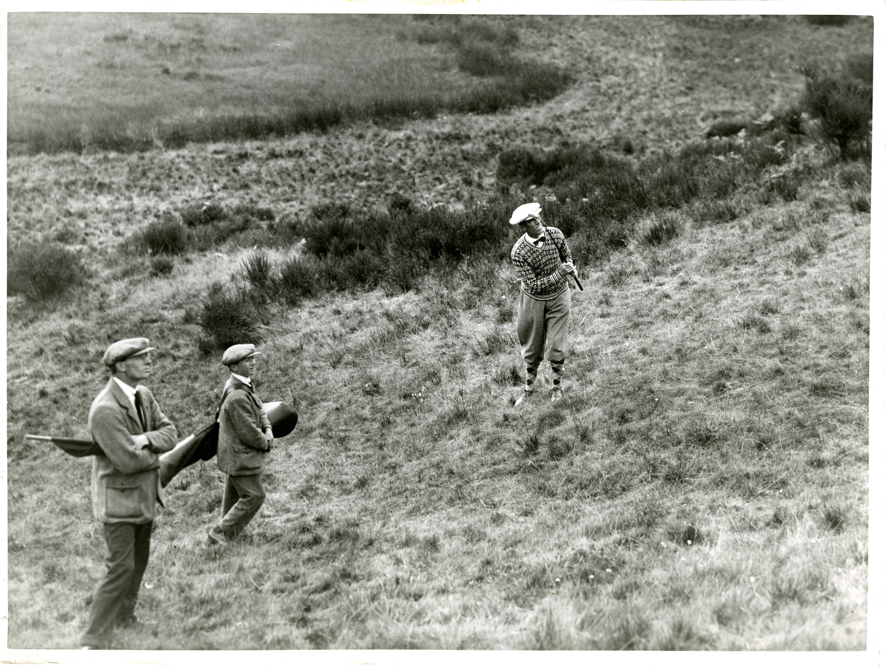 George Duncan playing out the rough at Gleneagles in 1935.
