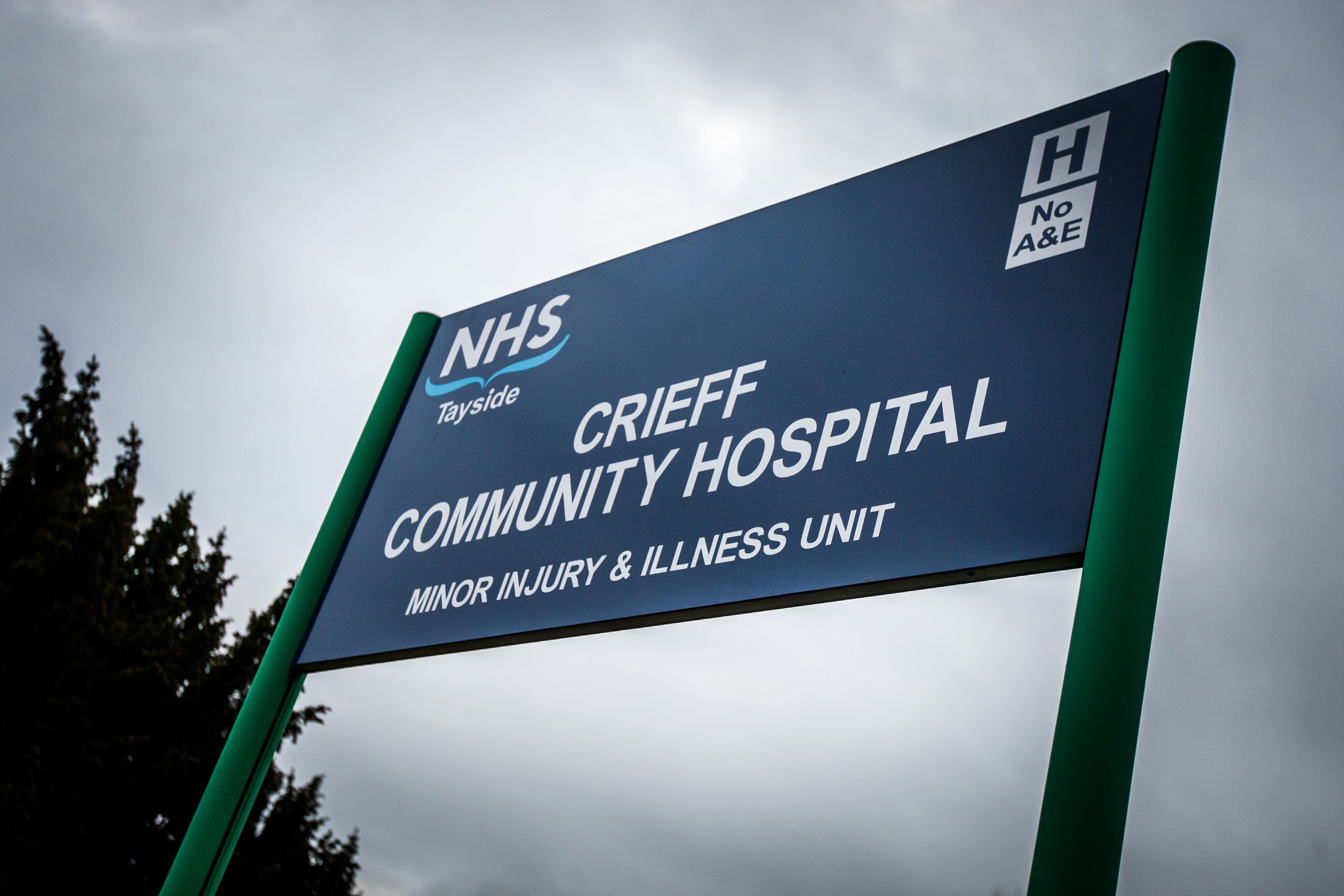 Crieff Community Hospital. The minor injury and illness unit has been closed due to a shortage of staff.