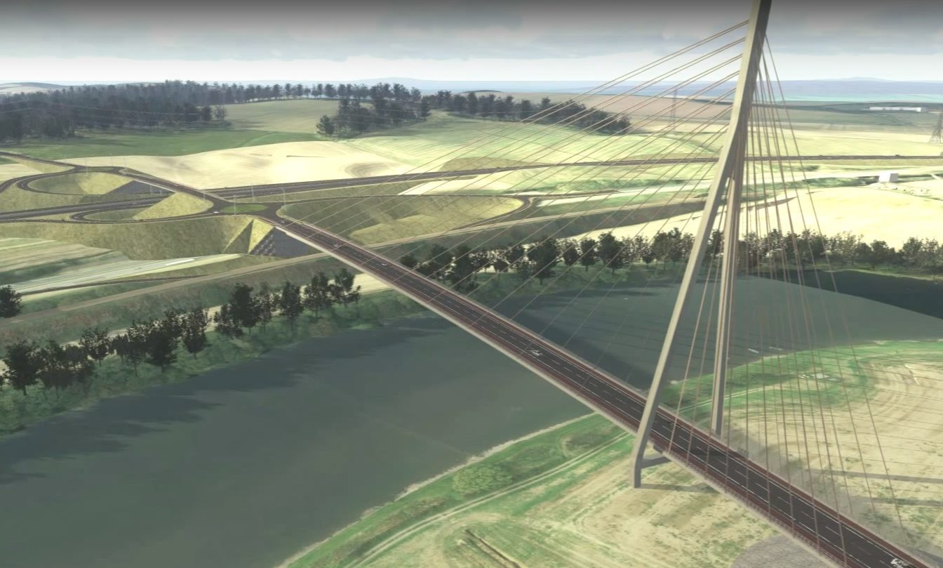 A computer generated image of the proposed Cross Tay Link Road.