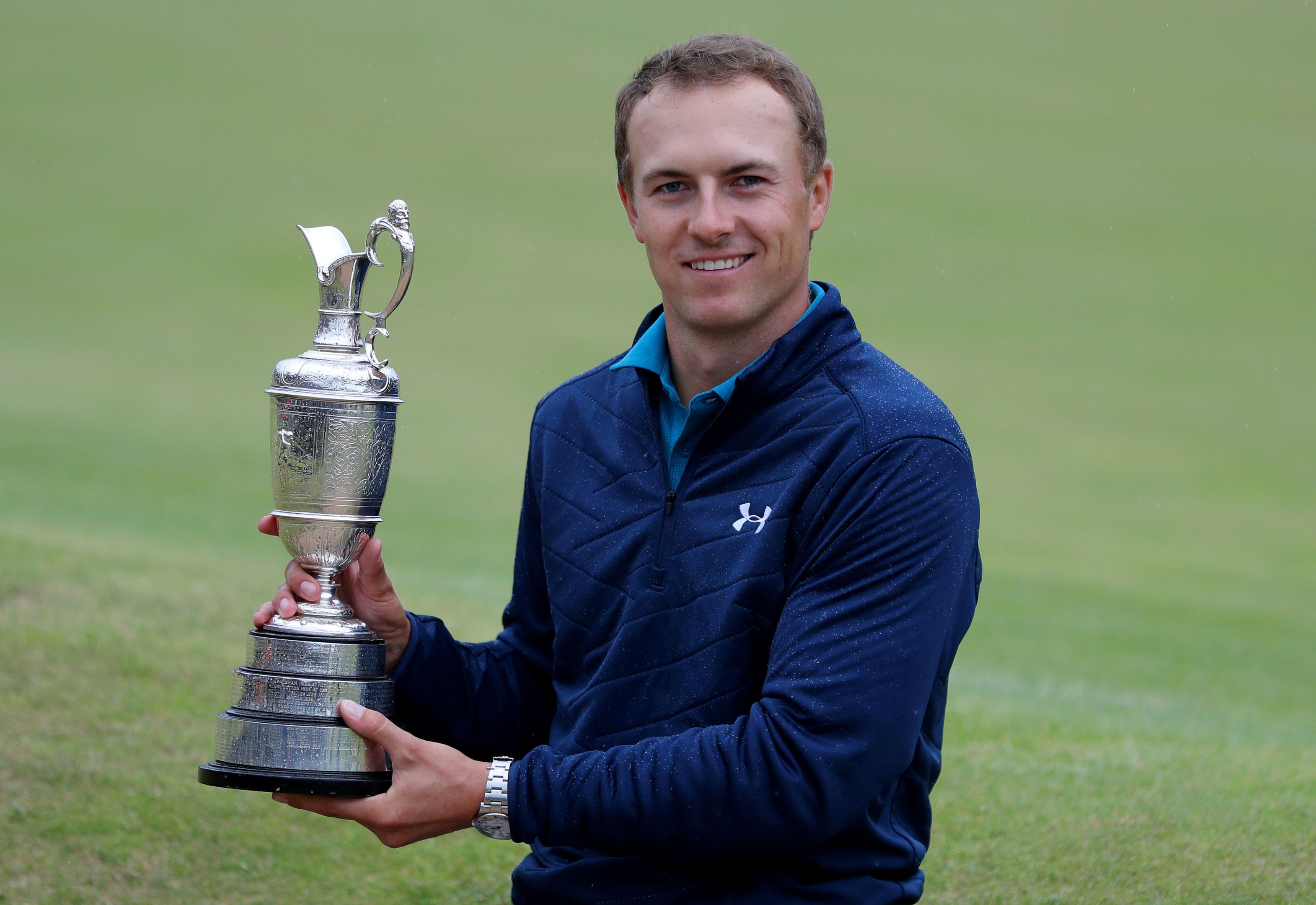Jordan Spieth with the Claret Jug after his dramatic Open Championship victory.