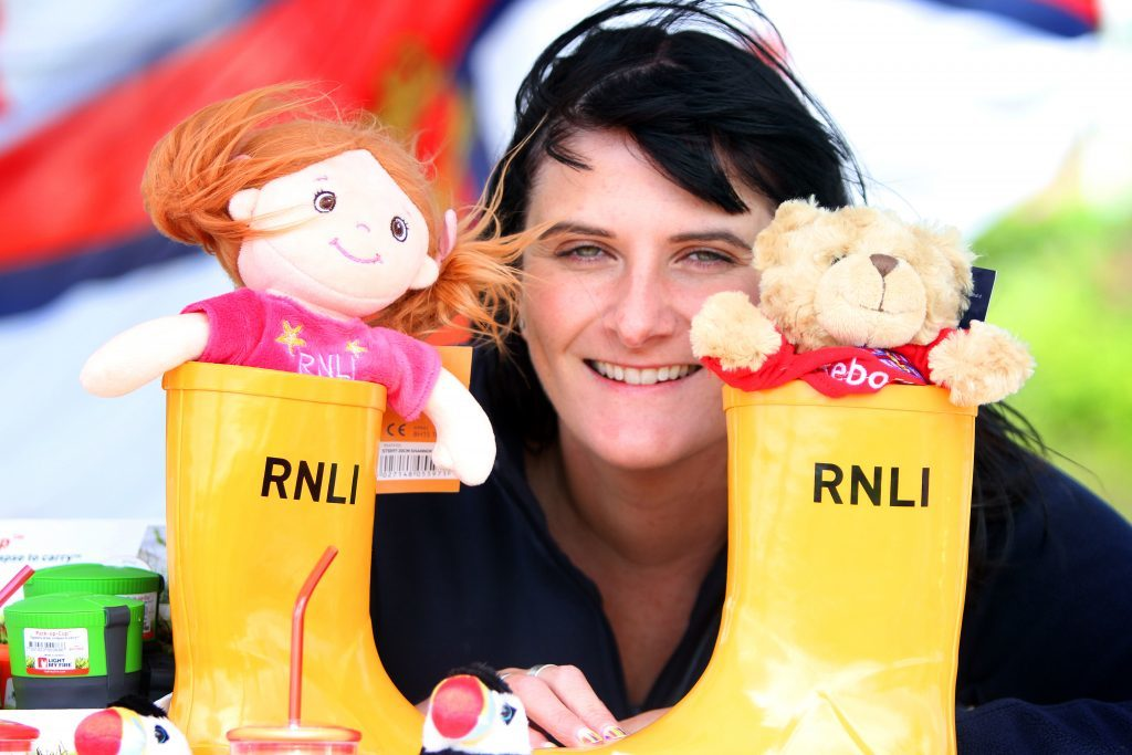 Louise Muir who was looking after the RNLI stall.