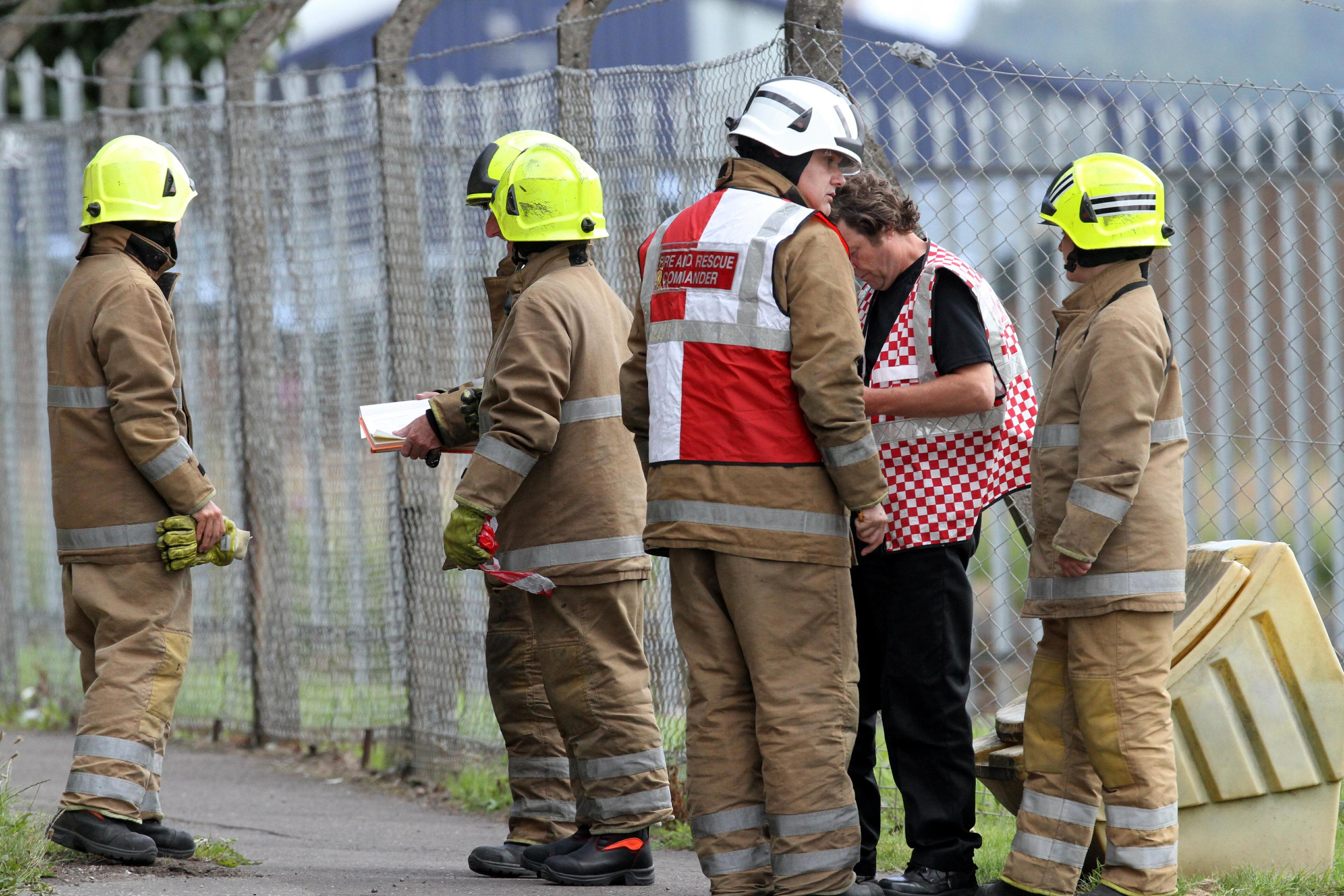 Police and fire brigade attend incident at Dundee Cold Stores on Whittle Place.