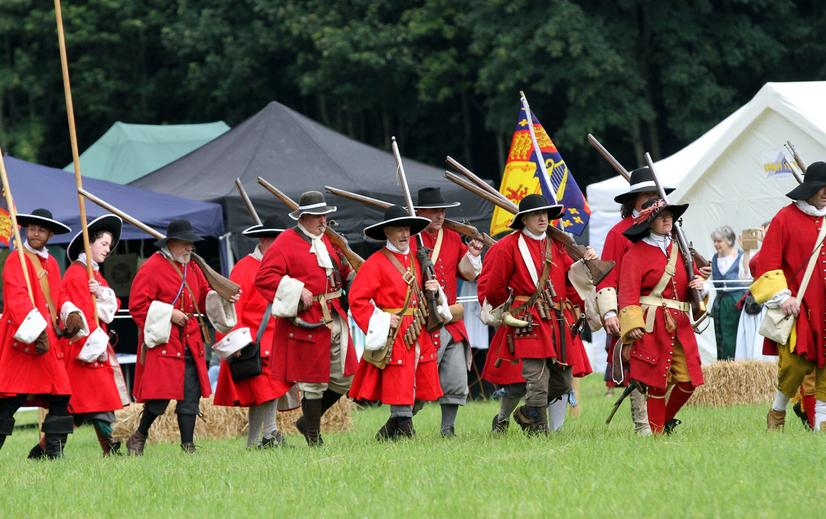A re-enactment of the battle by the Soldiers of Killiecrankie group.