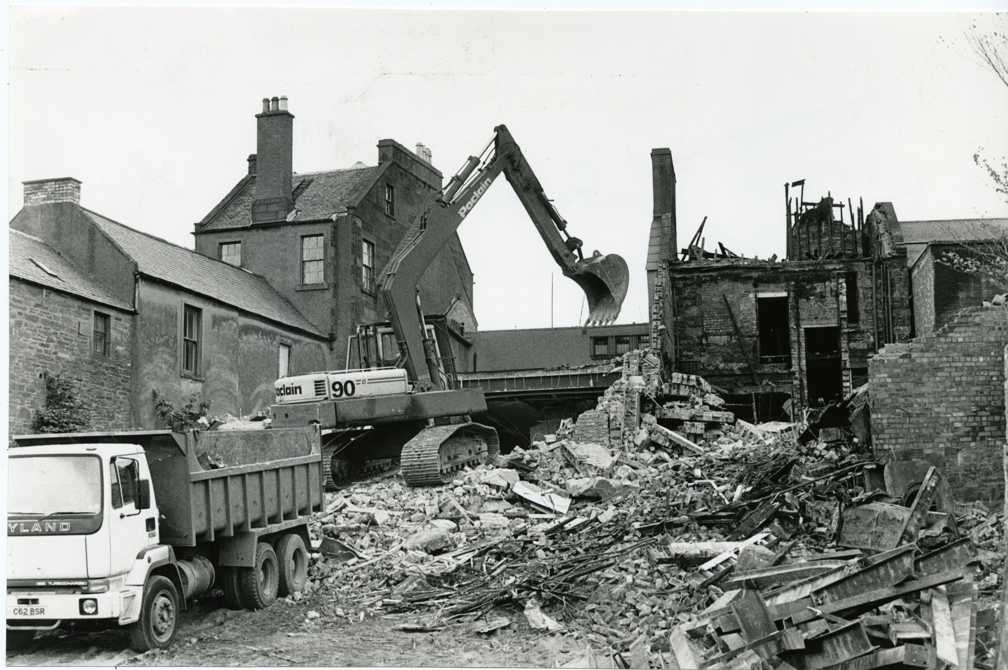 Demolition work on the Regal Cinema in Forfar