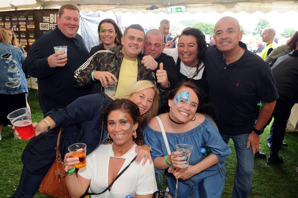 Some of the audience at the event - the 'Shotz' crew, Fake Fest, Lochee Park, Dundee.