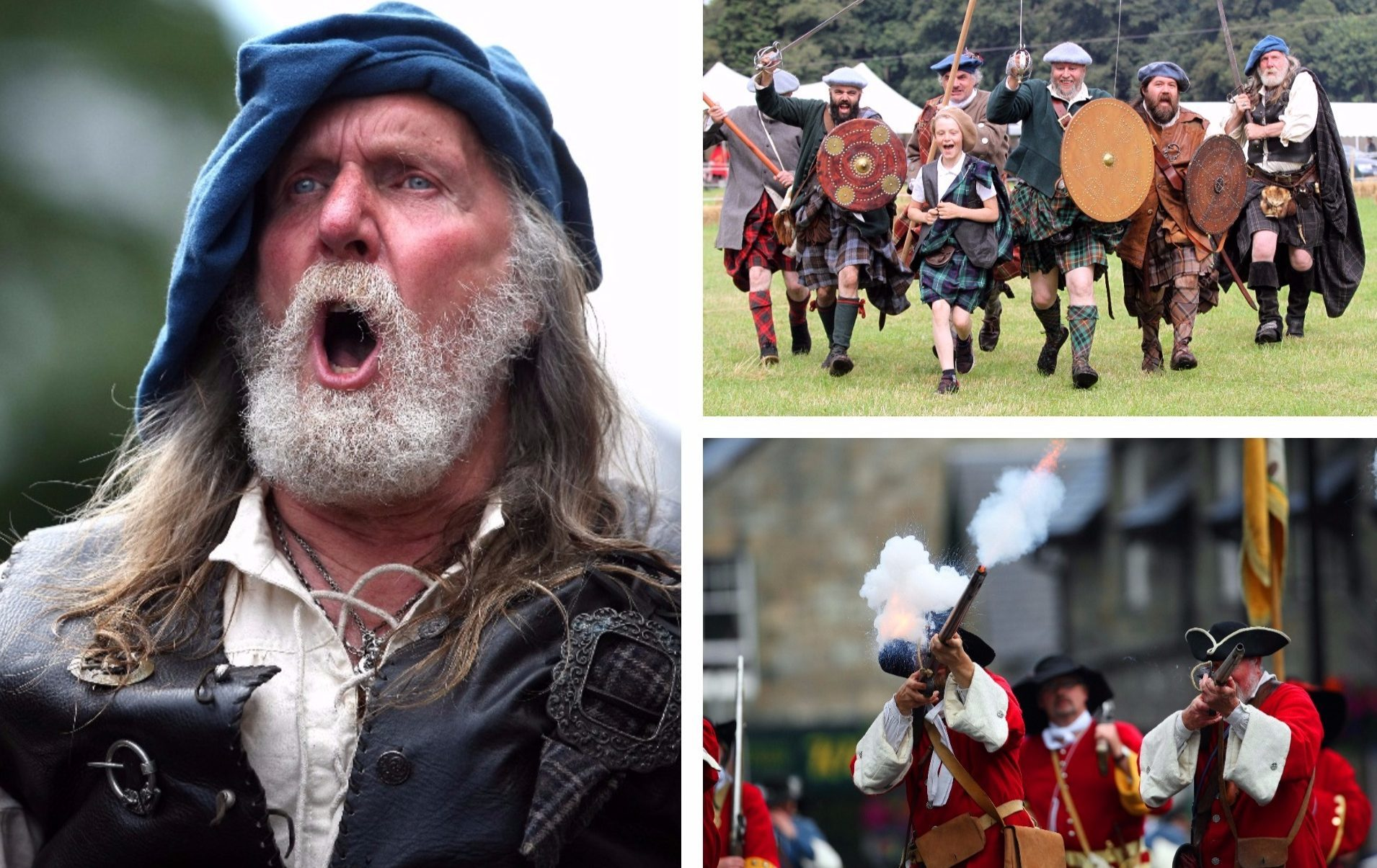The Battle of Killiecrankie recreated.
