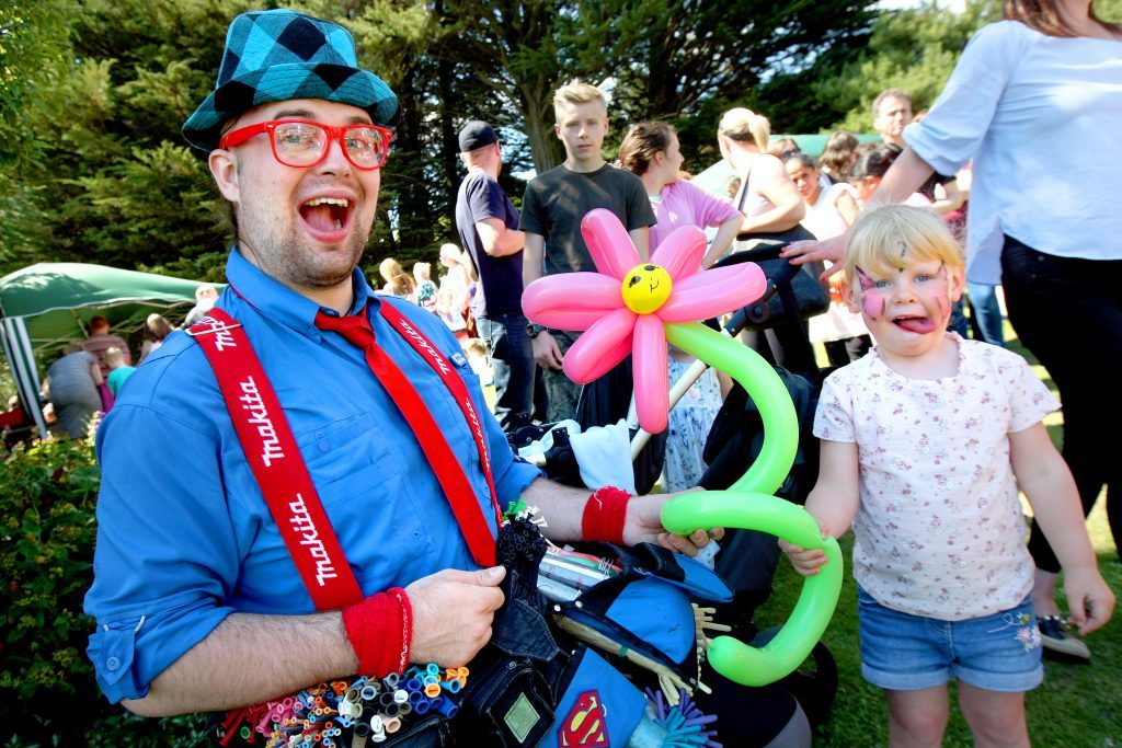 Talented Ted who was making balloon sculptures with Eva Masson from Barnhill.