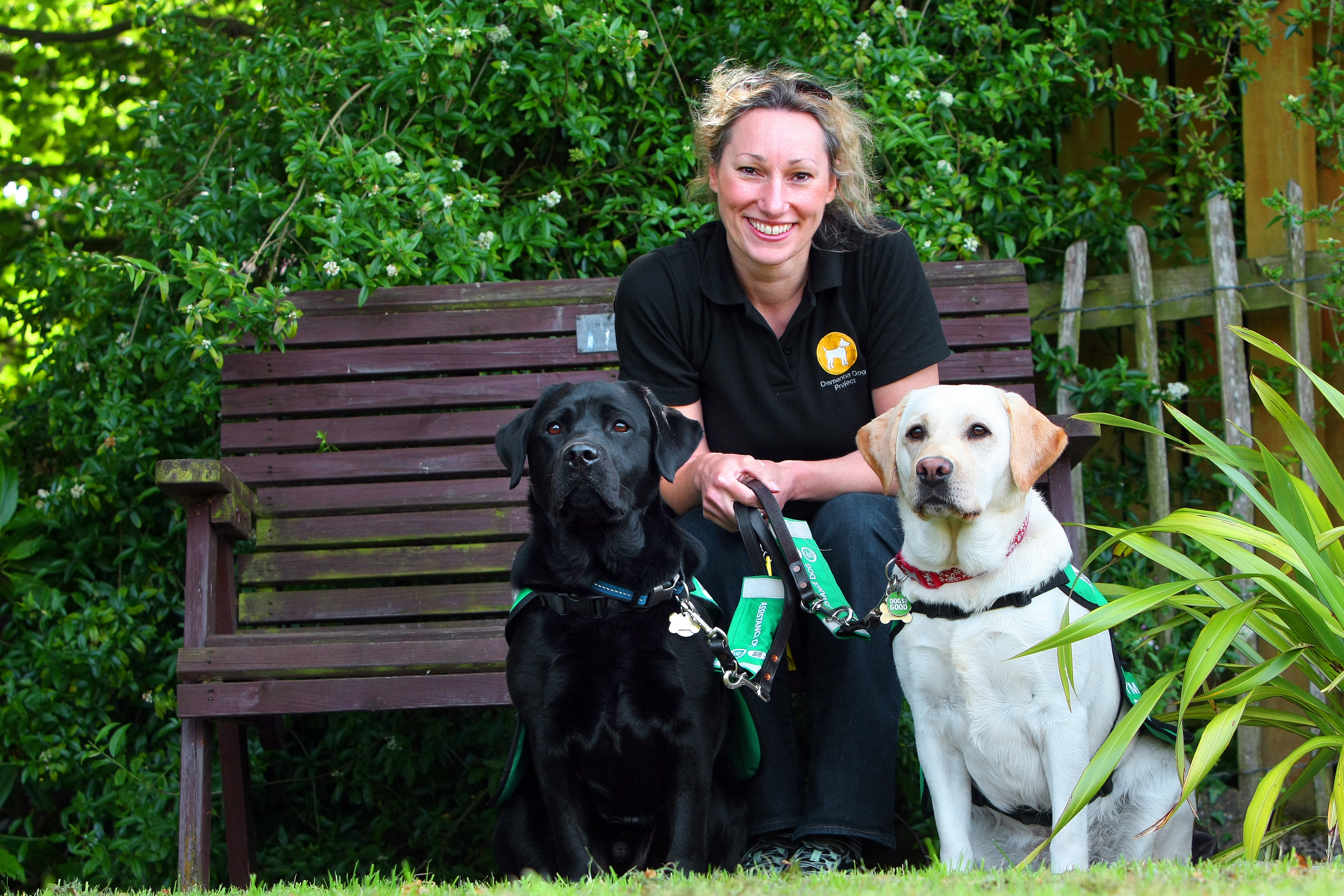 Fiona Corner of the Dementia Dog Project in 2017. The animals pictured are not the dogs the charity is seeking boarders for.