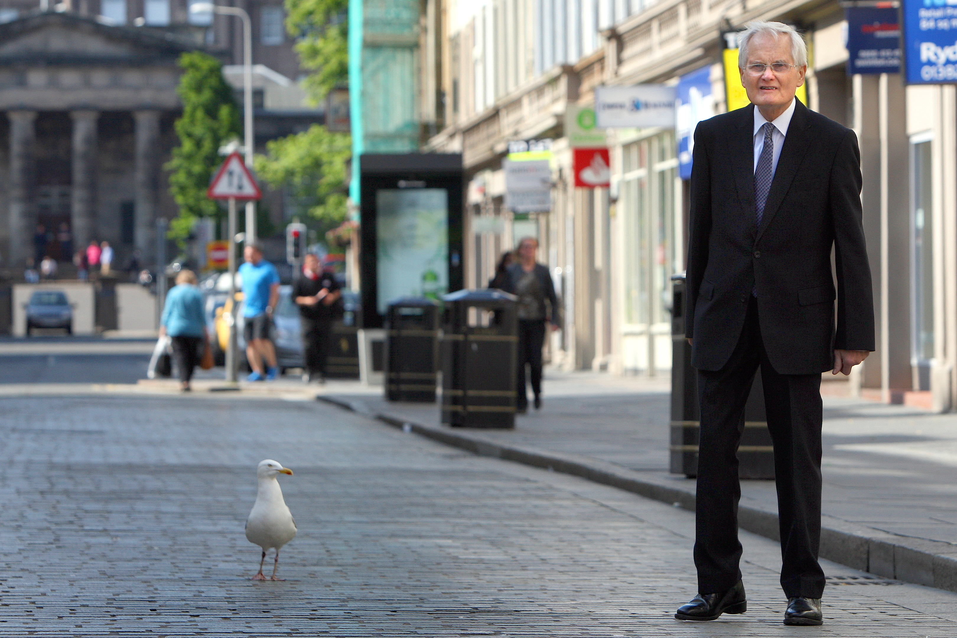 Mr Borthwick has seen an increase in gulls around Dundee.