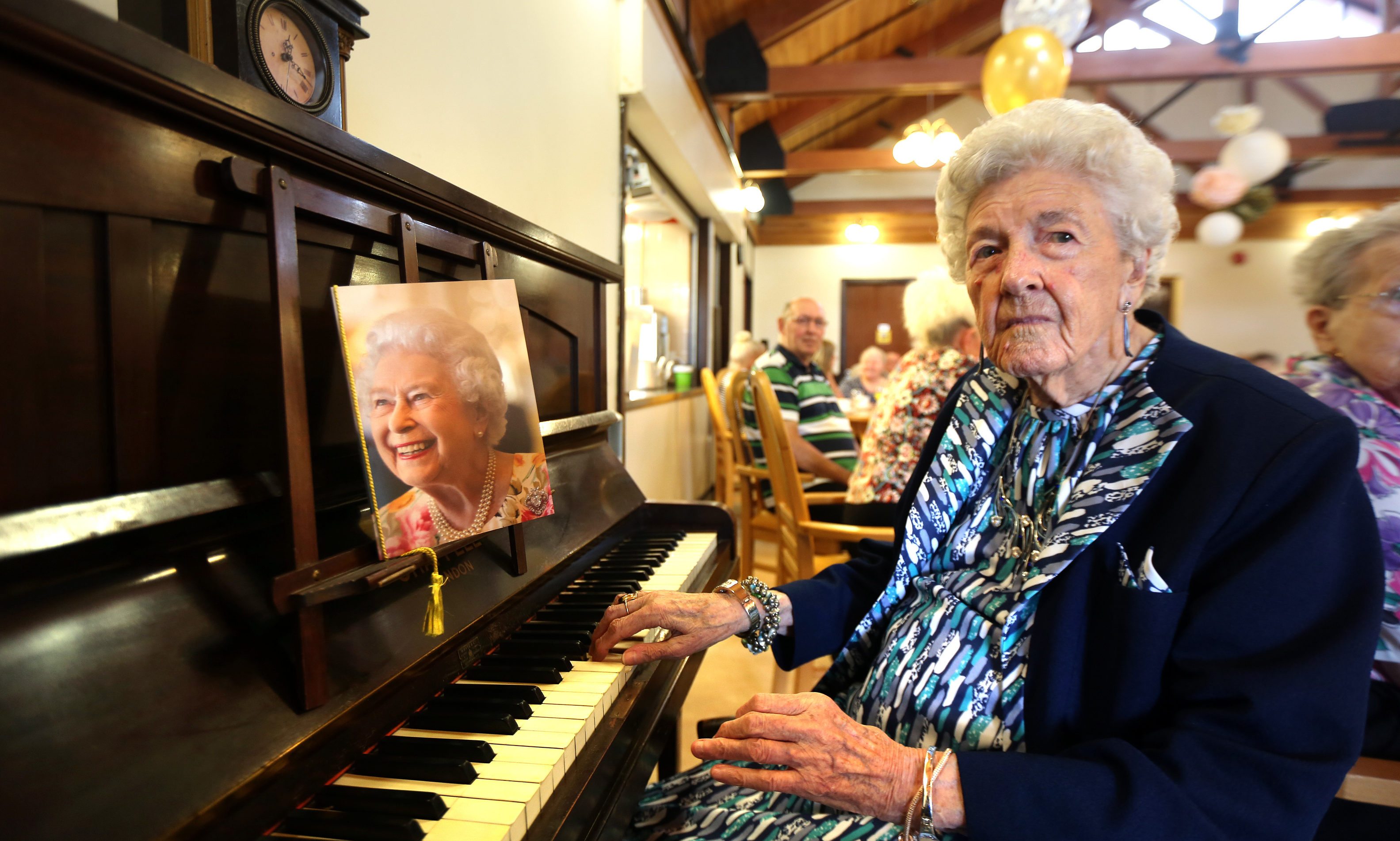 Agnes (Nessie) Manzie celebrating her 100th Birthday at Seaton Grove in 2017.