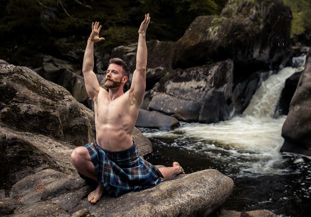 Yoga instructor Finlay Wilson