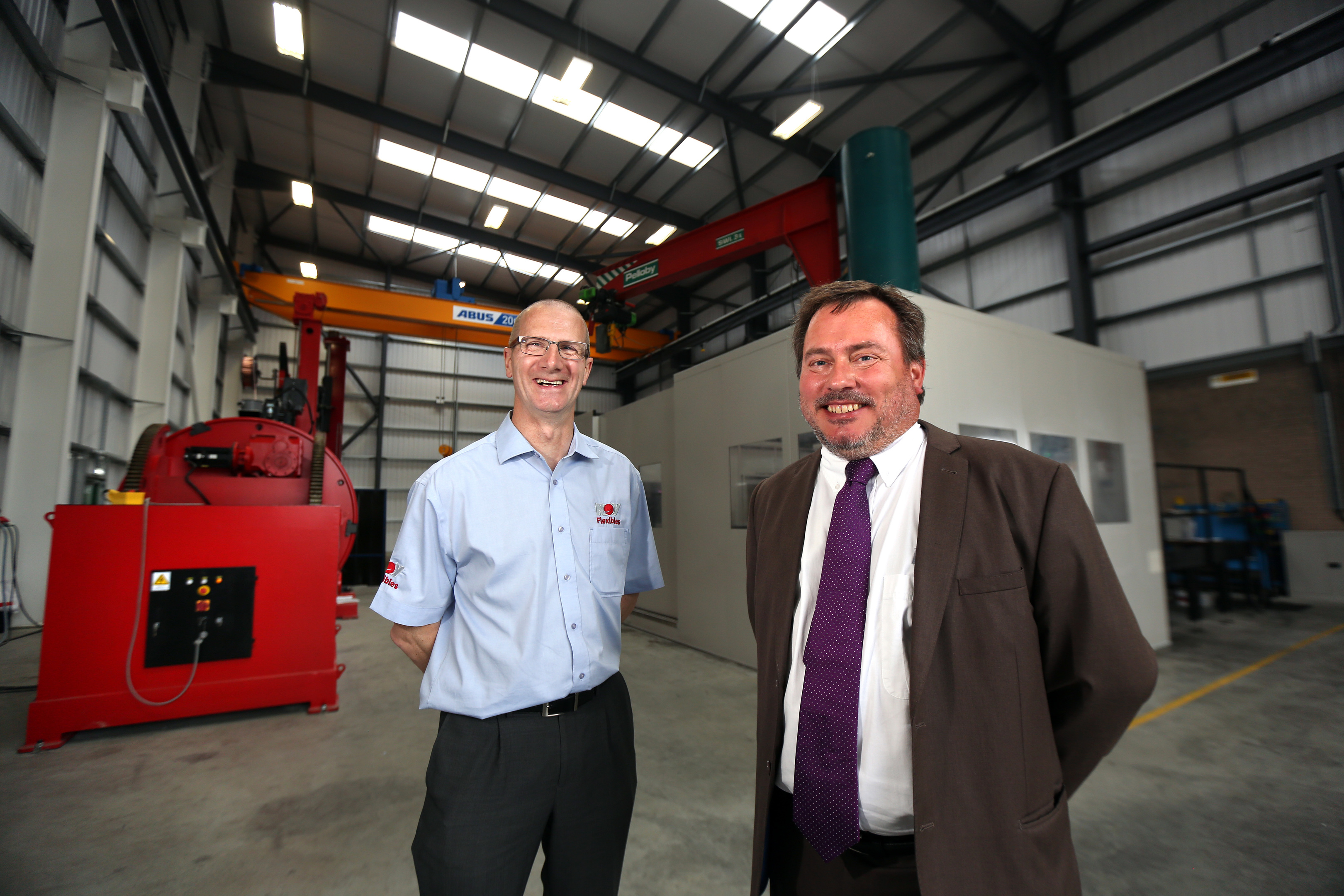 Extension project manager Alex Mitchell and supply chain director Steen Tornoe.