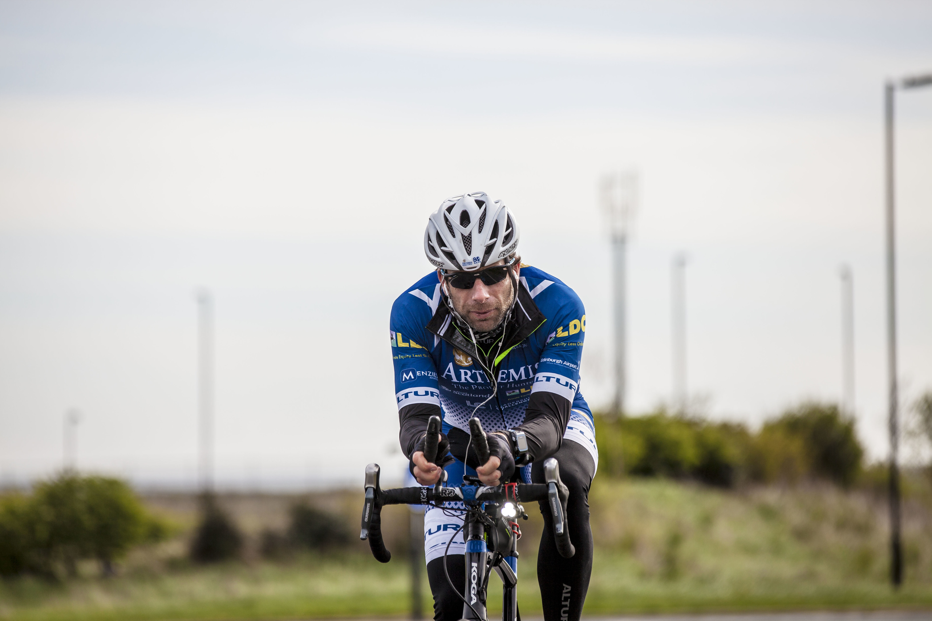 Mark Beaumont in action.